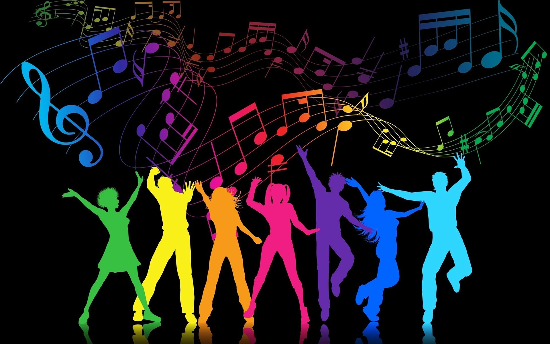 View Colorful Party People Party People Wallpaper