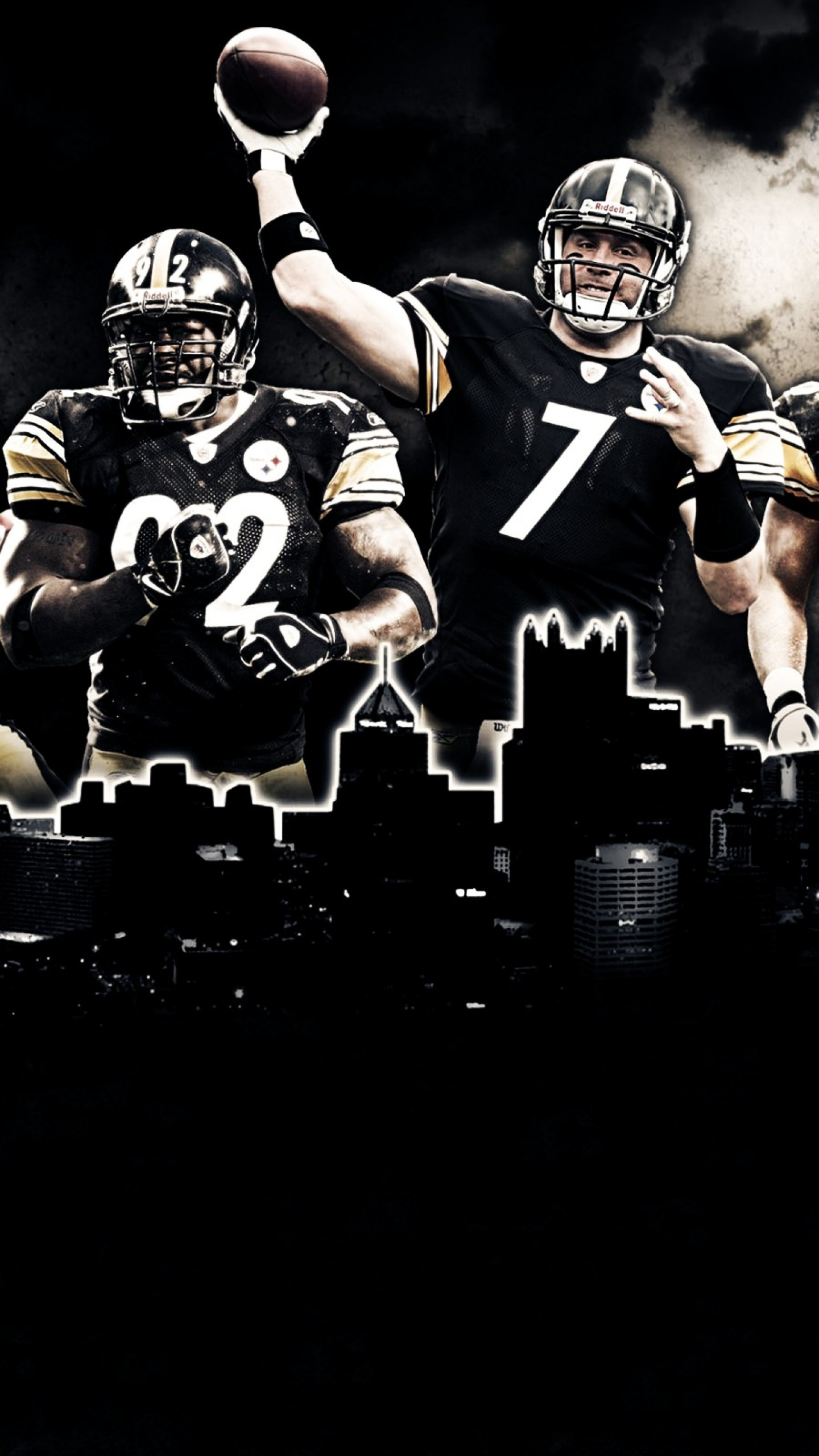 Preview wallpaper pittsburgh steelers, american football, nfl 1440×2560