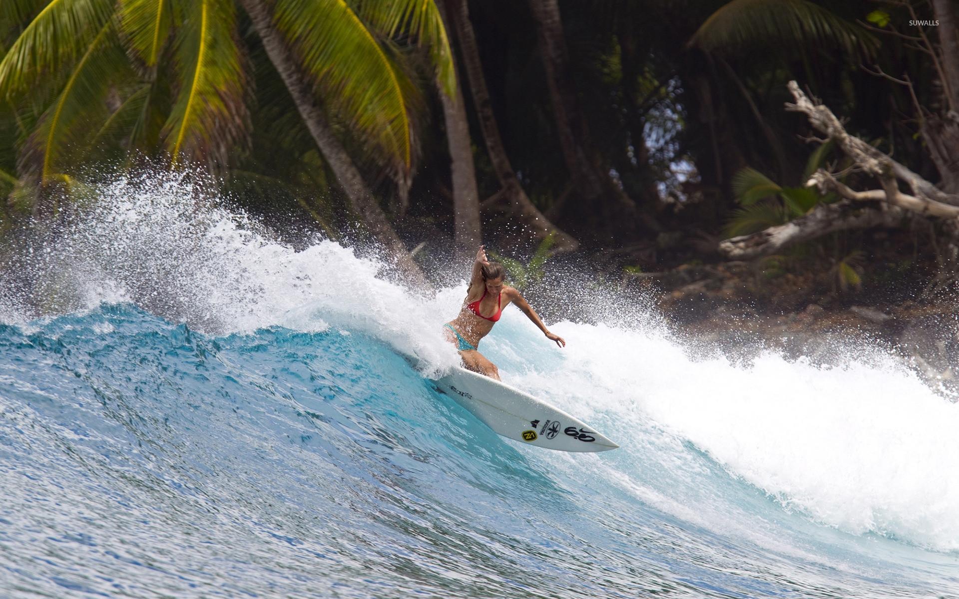 Girl surfing wallpaper jpg