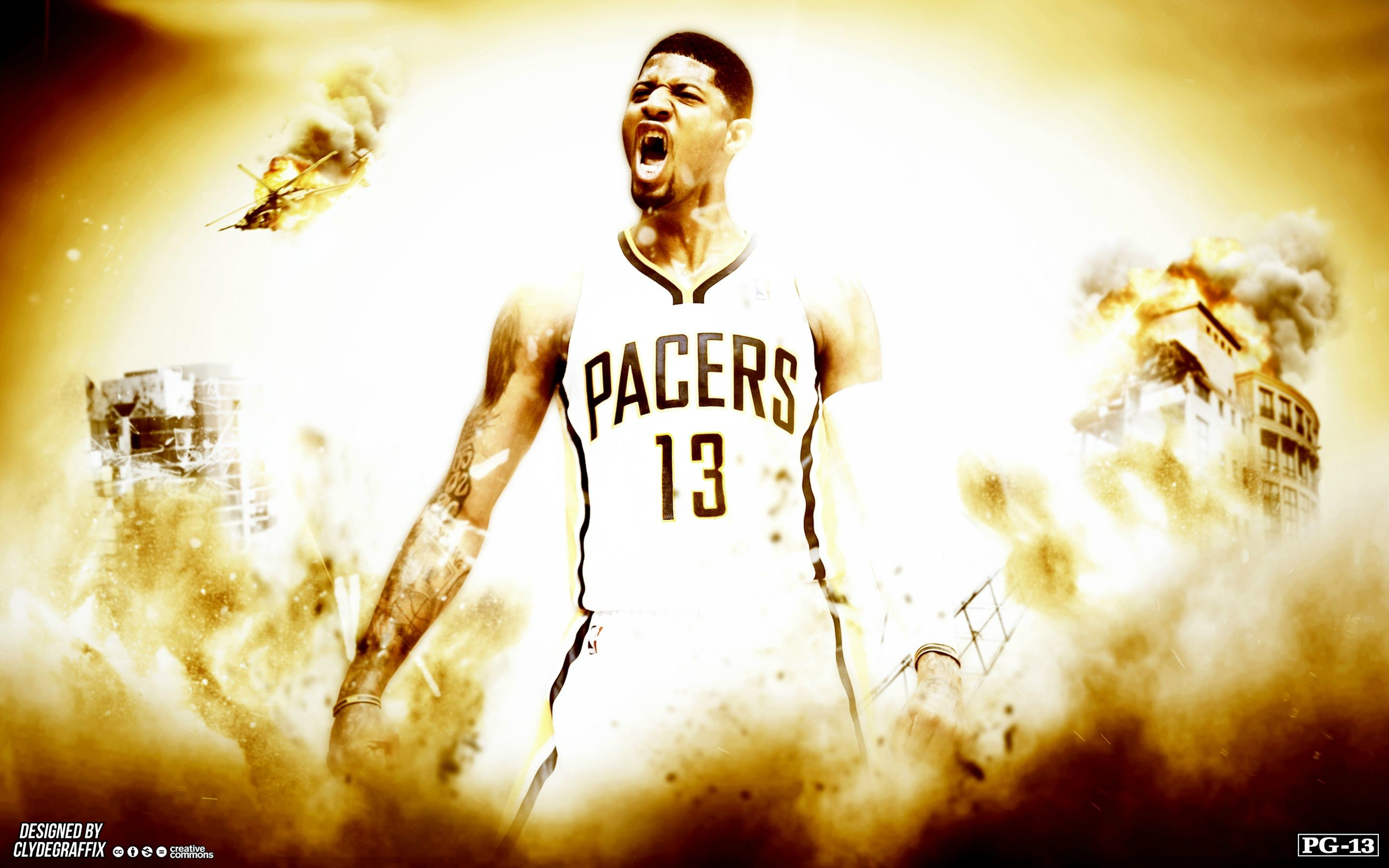 Made a Paul George wallpaper I thought you guys might like!