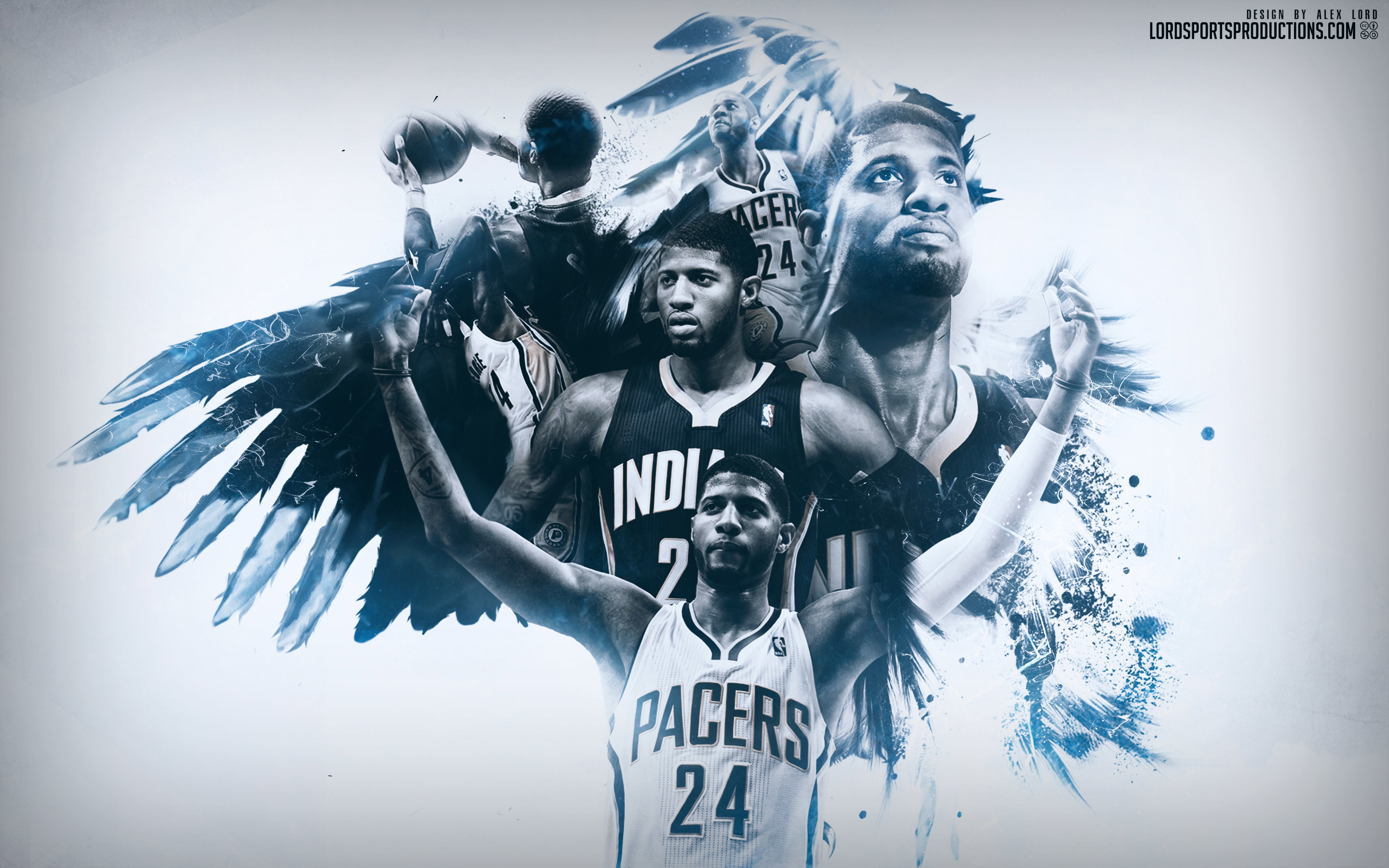 Paul George Indiana Pacers 2015-2016 Wallpaper