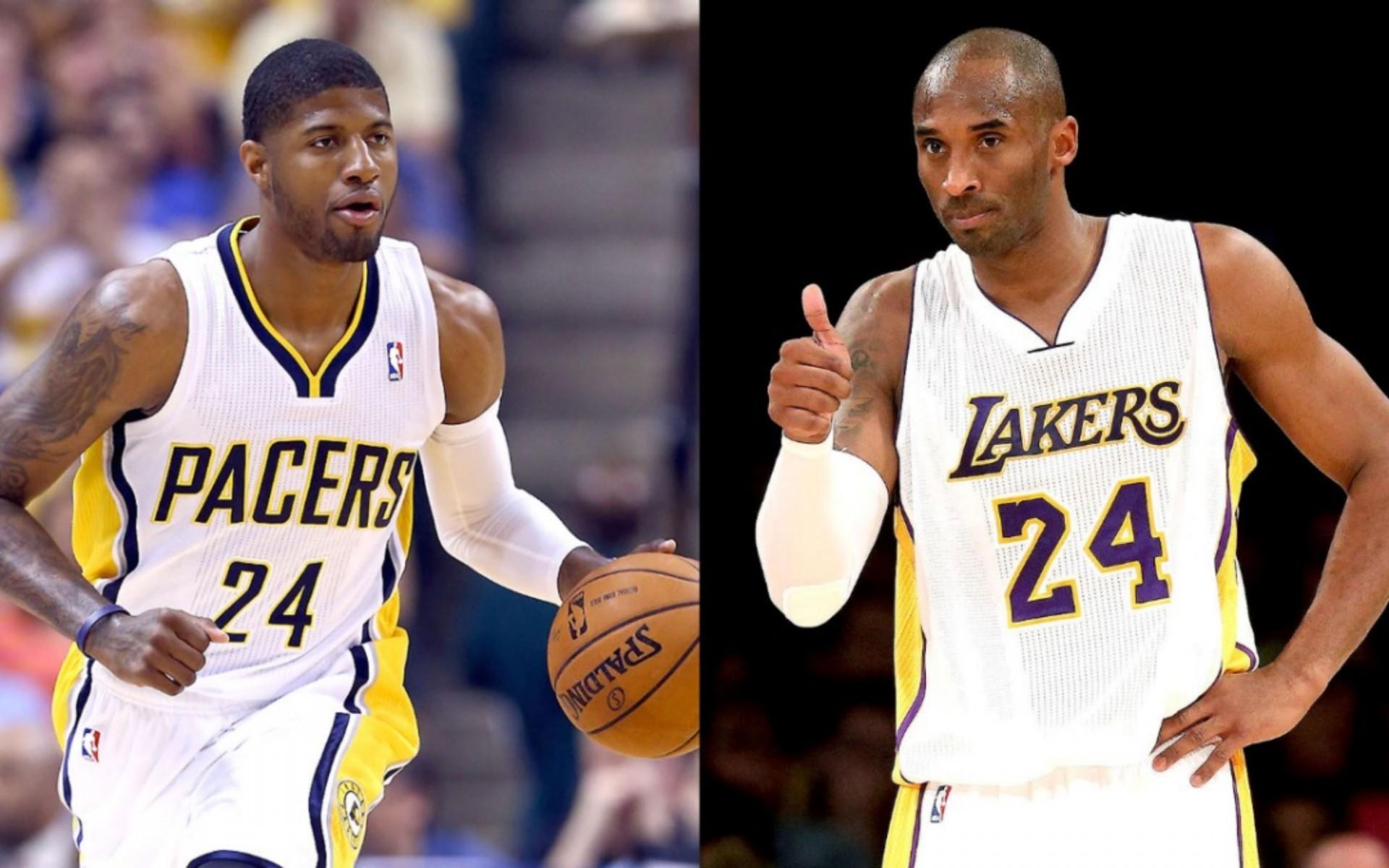 Paul George vs La Lakers Kobe Bryant 4K Wallpaper