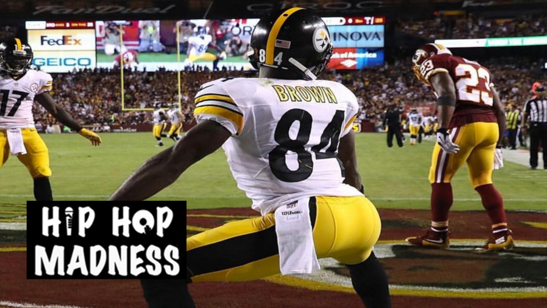 Antonio Brown Hits Redskins With Devastating TD Celebration (Twerking) and  Gets Penalized