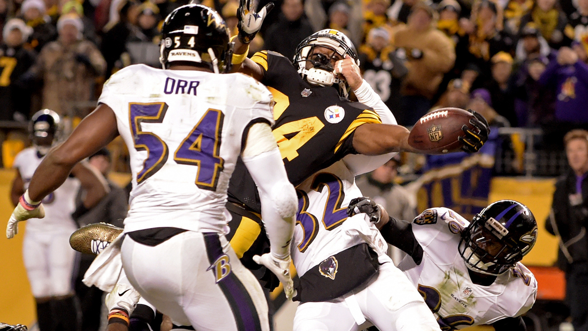 Steelers eliminate Ravens from playoff hunt with 31-27 comeback win – LA  Times