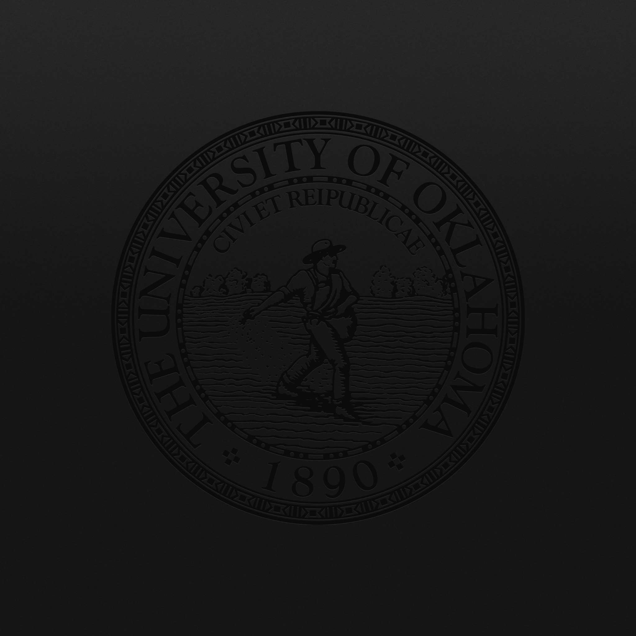 Wallpaper: Black OU seal