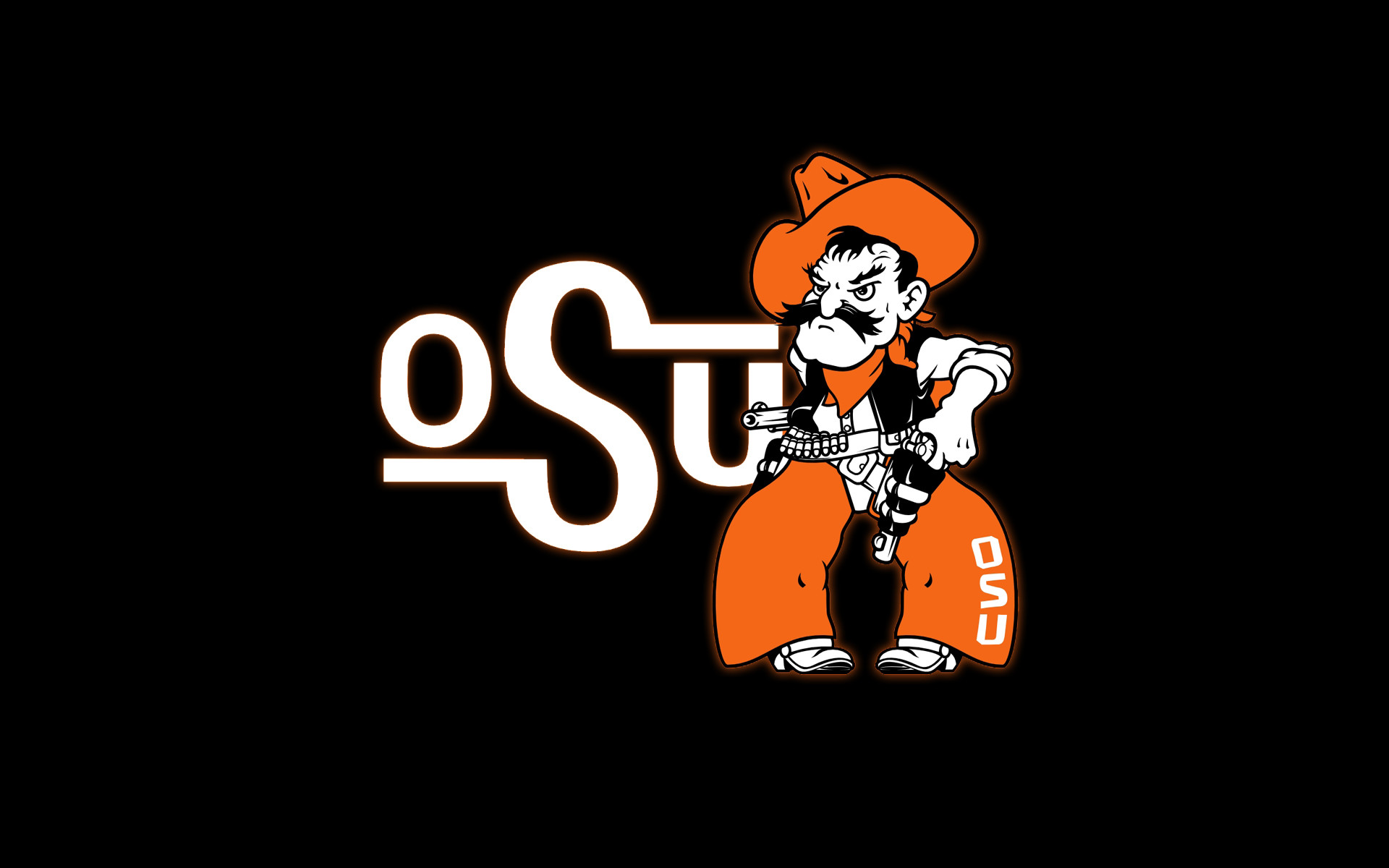 oklahoma state cowboys basketball swoosh in 3d mobile wallpaper .