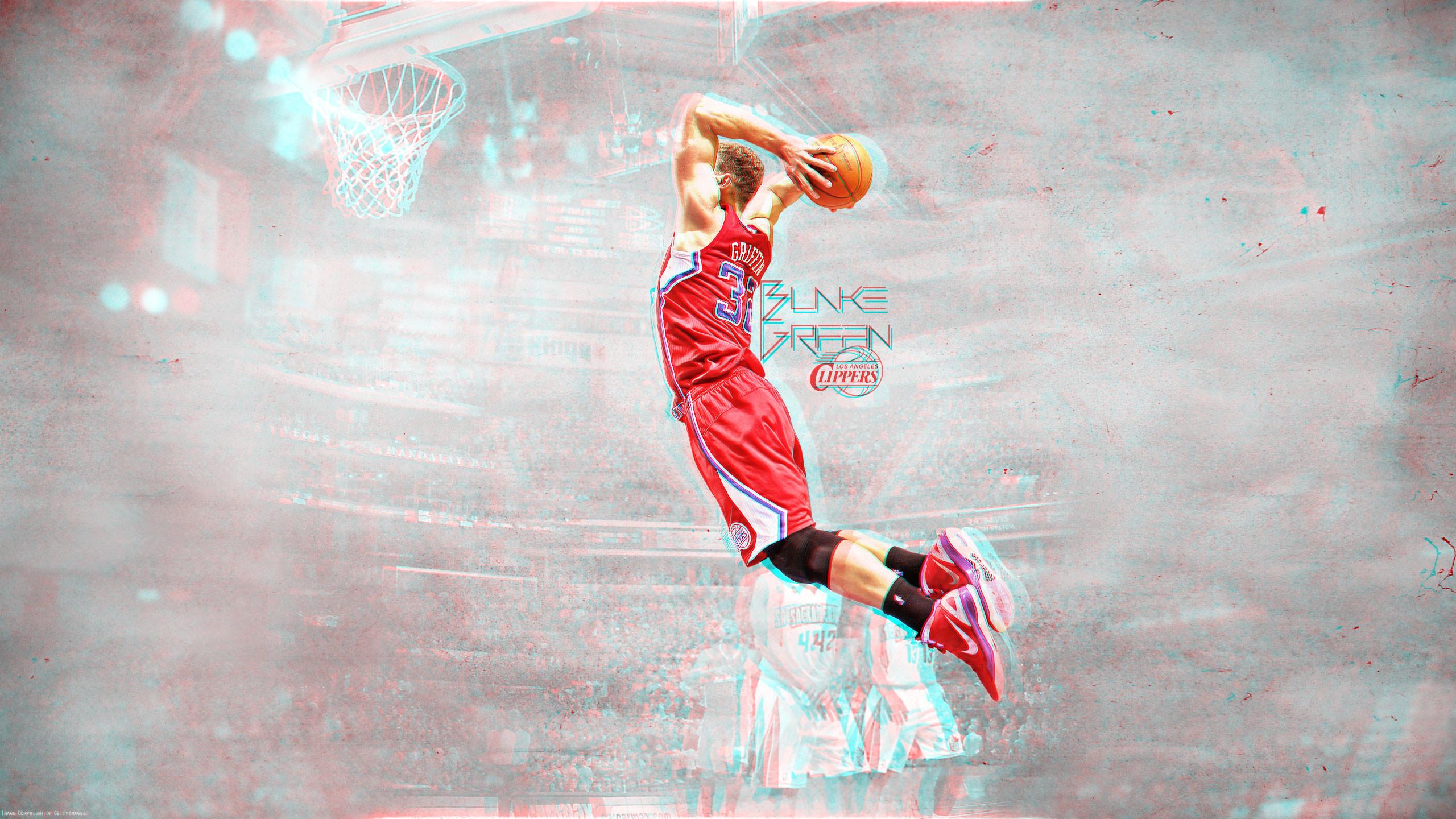 Blake Griffin Dunk 3D Wallpaper