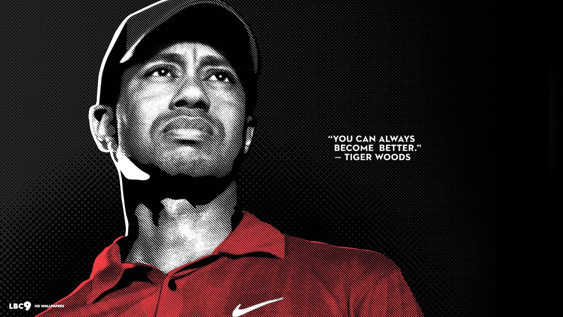 Tiger Woods Golf Quote | Desktop Wallpaper | #quotes