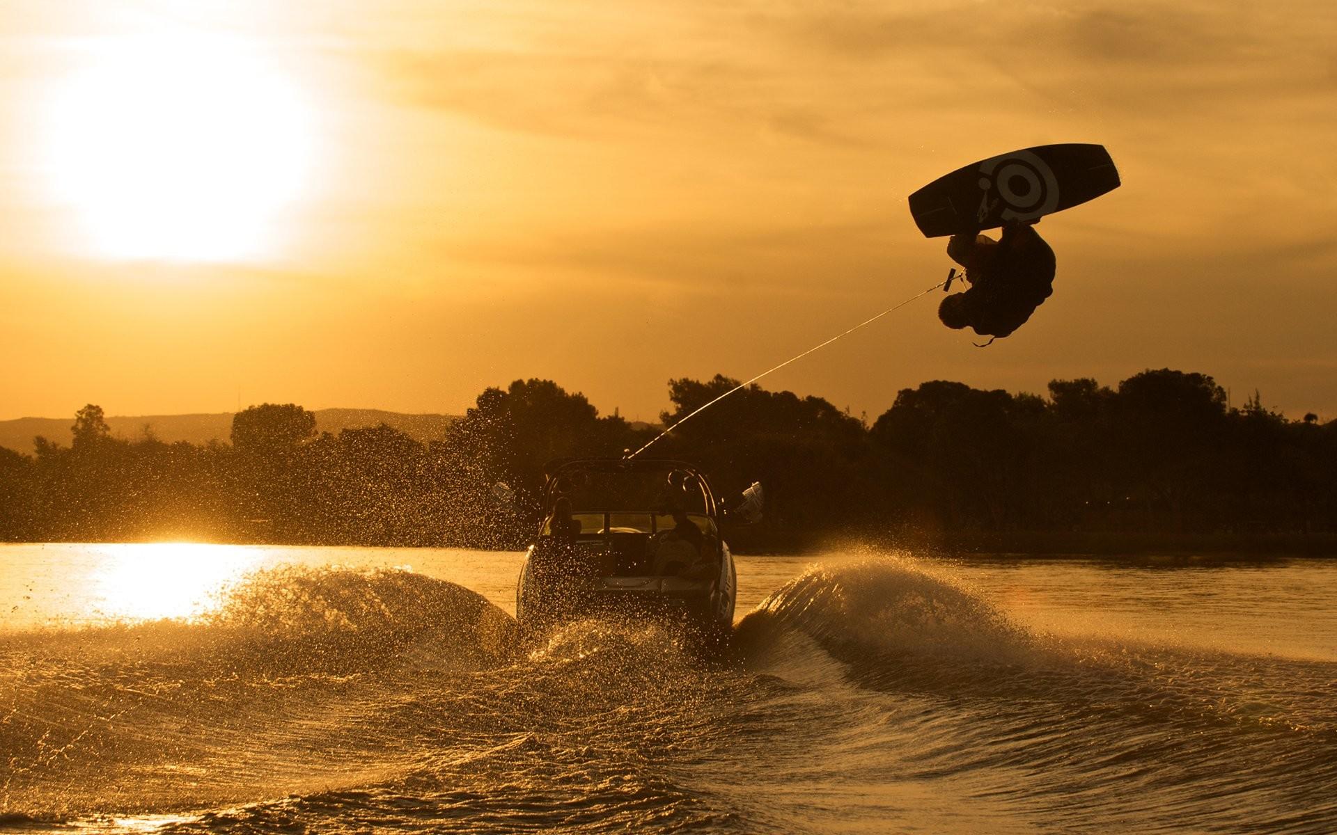 Sports – Wake Boarding Boat Wake Boarding Wallpaper