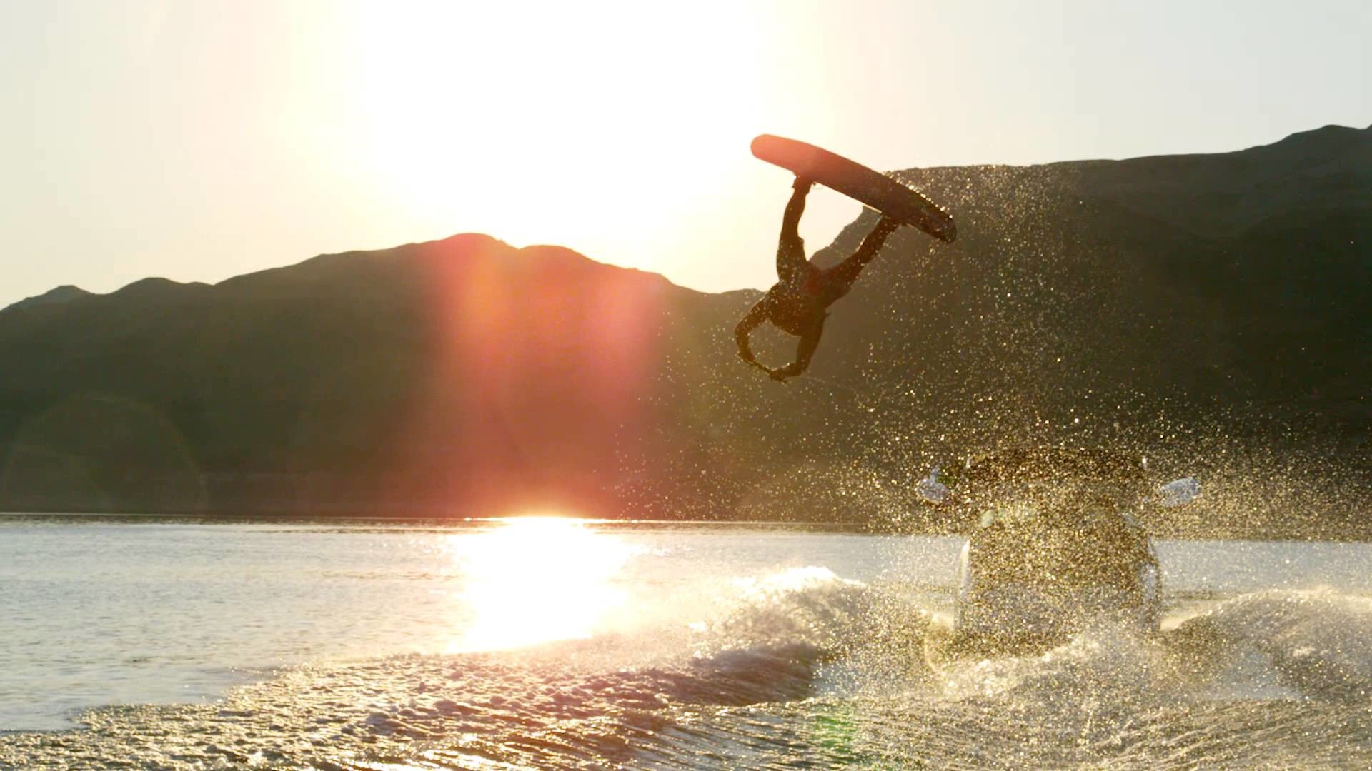 Wakeboard Superman in Super Slow Motion!