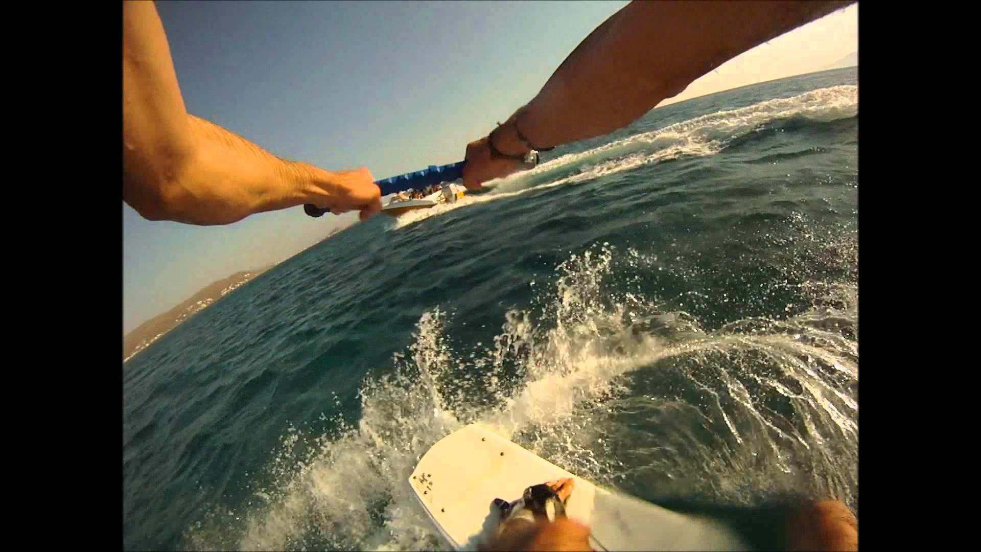 1st Try Wakeboarding Gopro Chest Mount