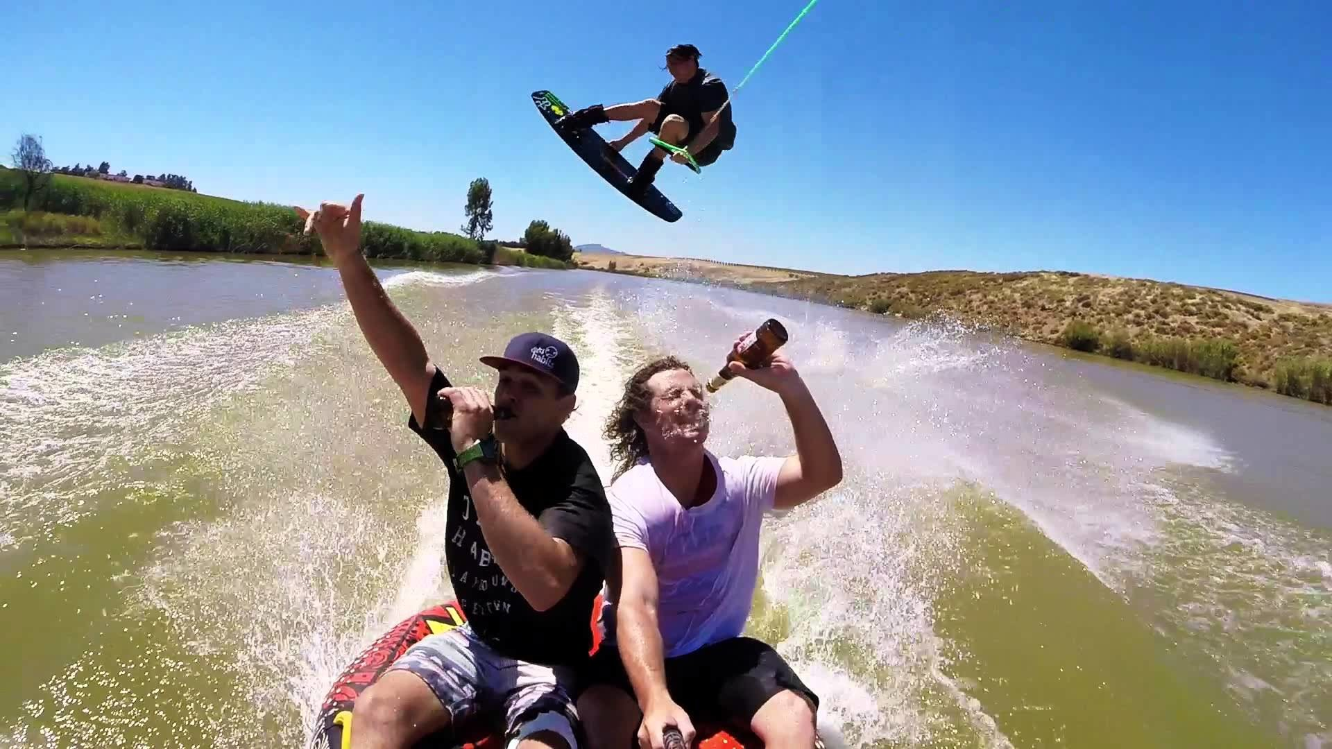 Dirty Habits – Wakeboarding with paintball guns and beers – Ep 3