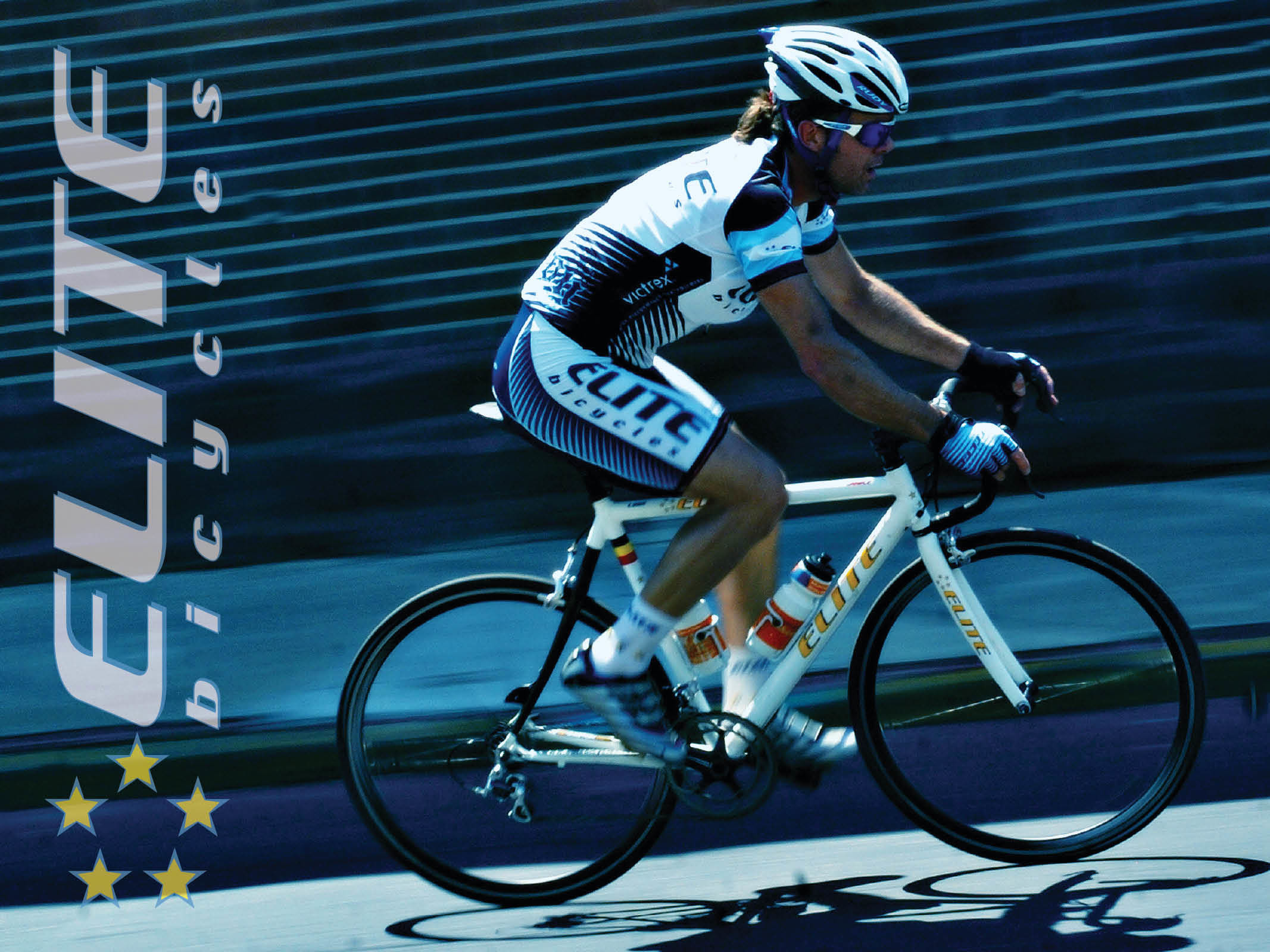 Bob Moskal on his way to solo Elite Bicycle road race win