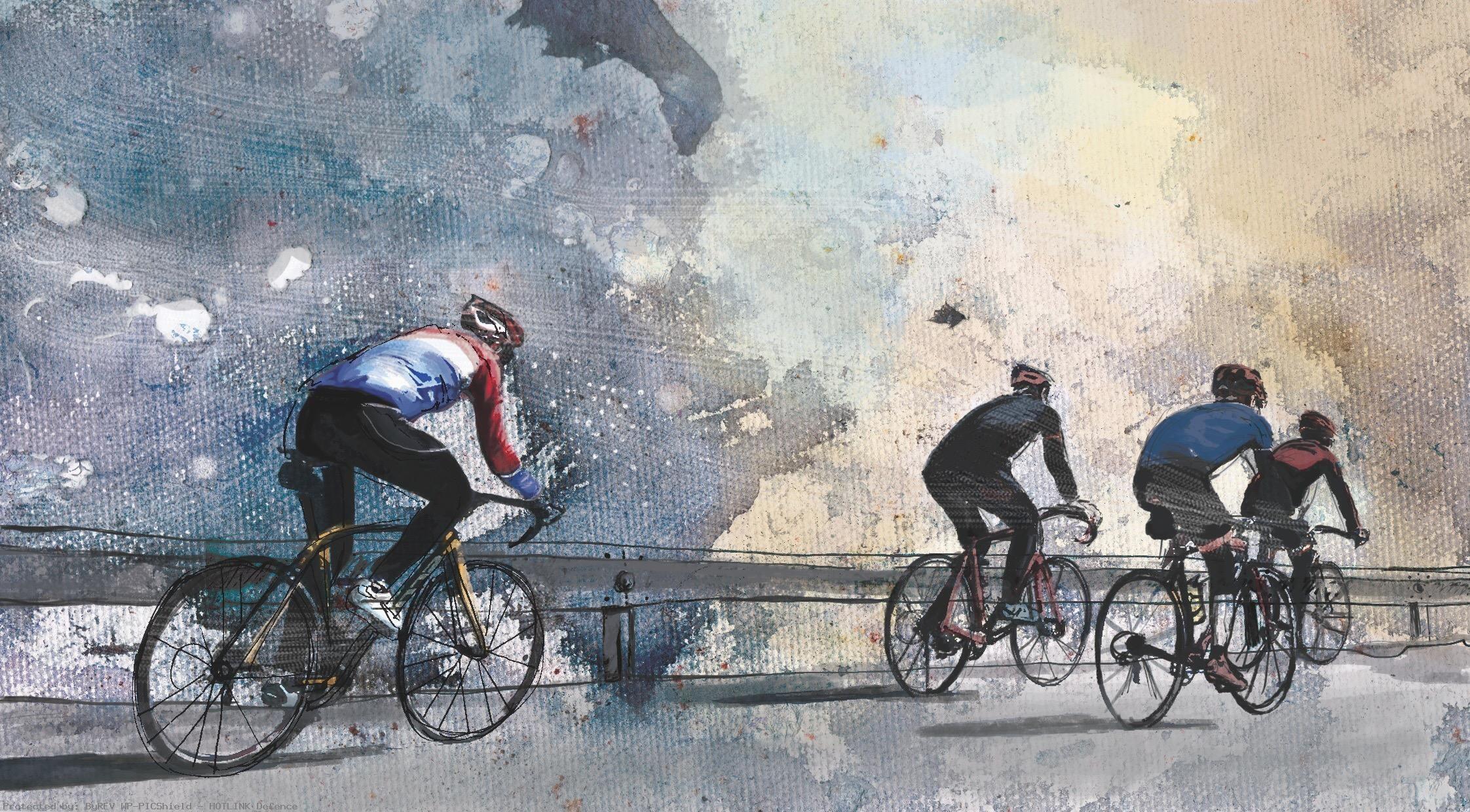 Cycling-art-road-bike-watercolor-wallpaper-wp4003493
