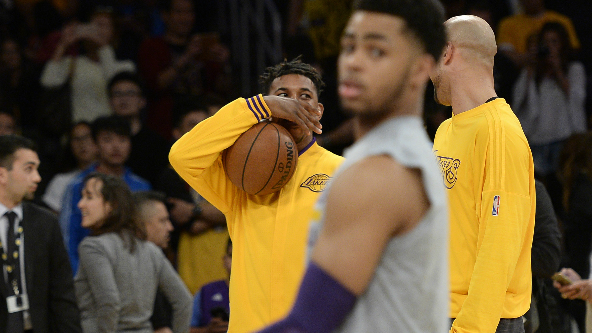 Lakers' Nick Young decides he finally maybe can forgive D'Angelo Russell    NBA   Sporting News