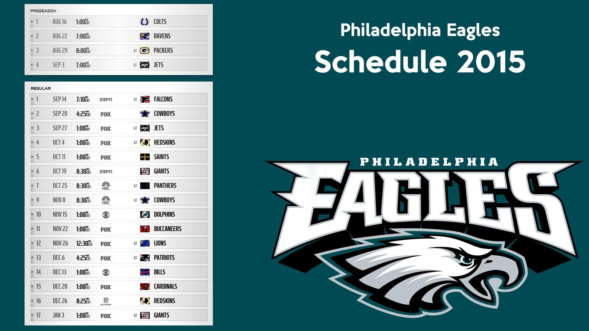 Philadelphia Eagles schedule 2015 wallpaper – Free full hd .