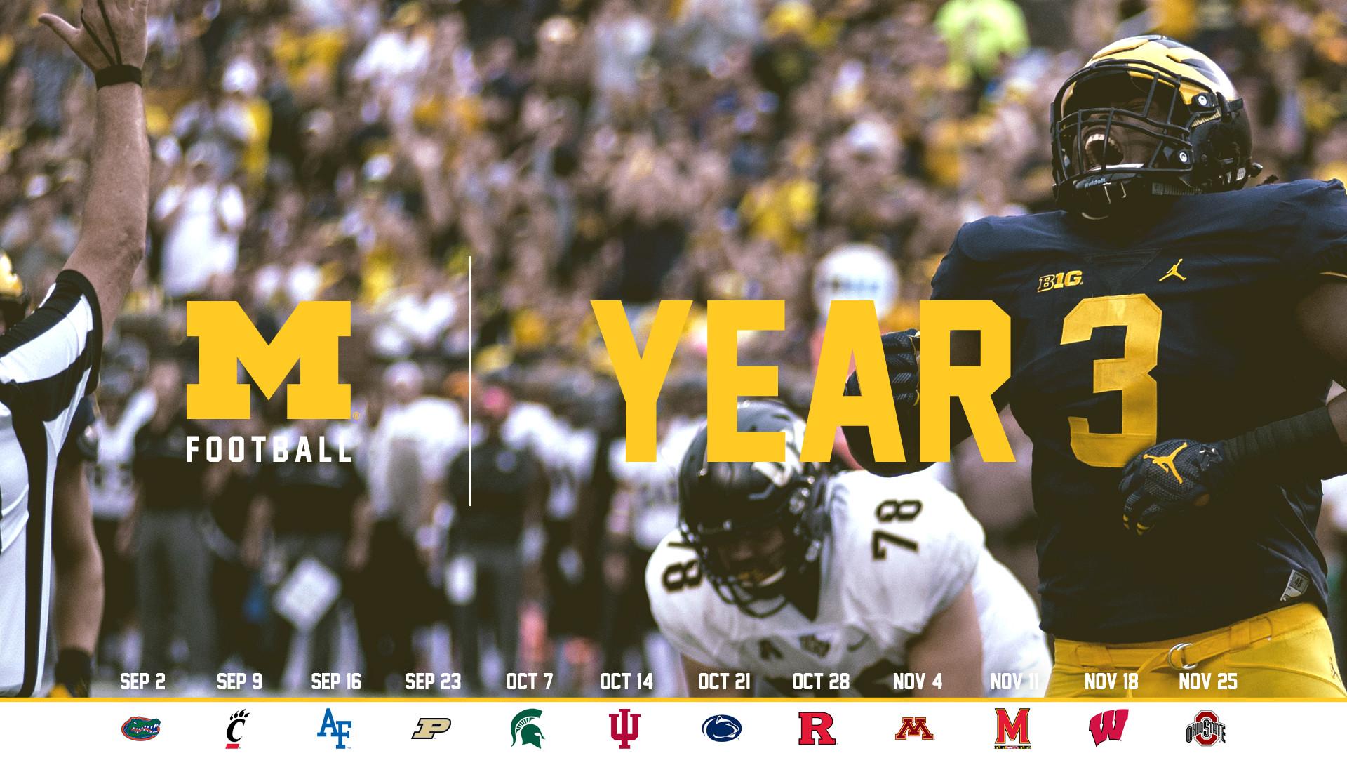Michigan Football Wallpaper by BeanGoBlue | 2017 – Year 3 – 1920×1080