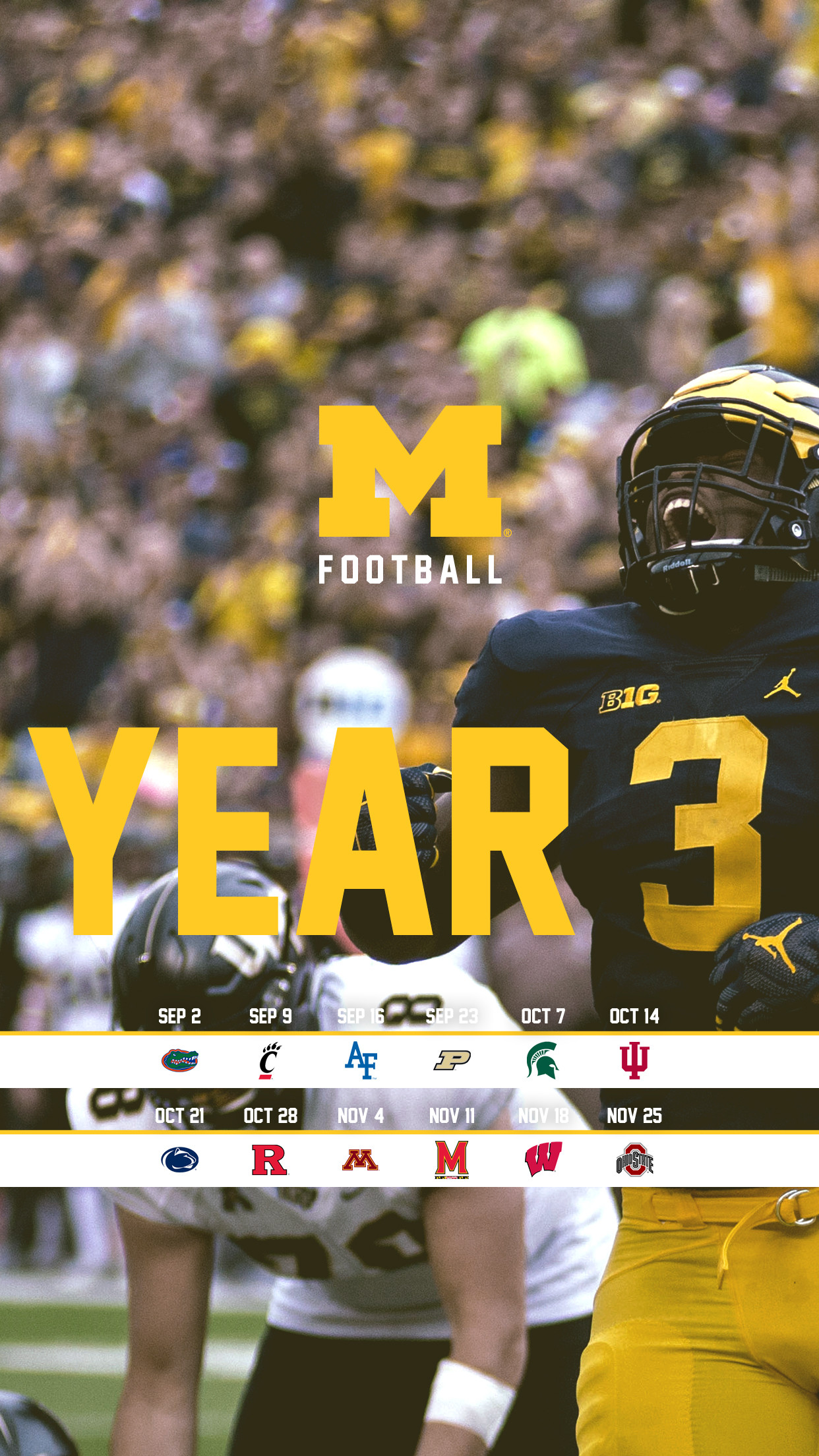 Michigan Football Wallpaper by BeanGoBlue | 2017 – Year 3 – Mobile