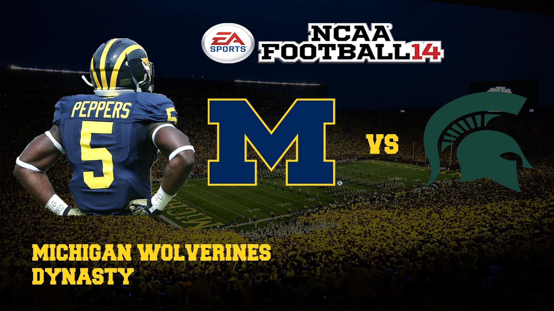 NCAA Football 14 Michigan Wolverines Dynasty | Vs Michigan State [Y2G9]
