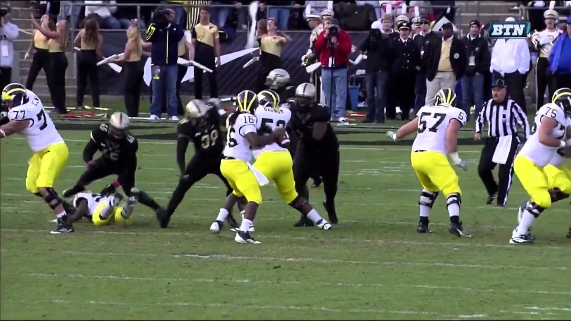 Michigan Wolverines Football: Michigan Wolverines vs. Purdue Boilermakers  10-6-12 – YouTube