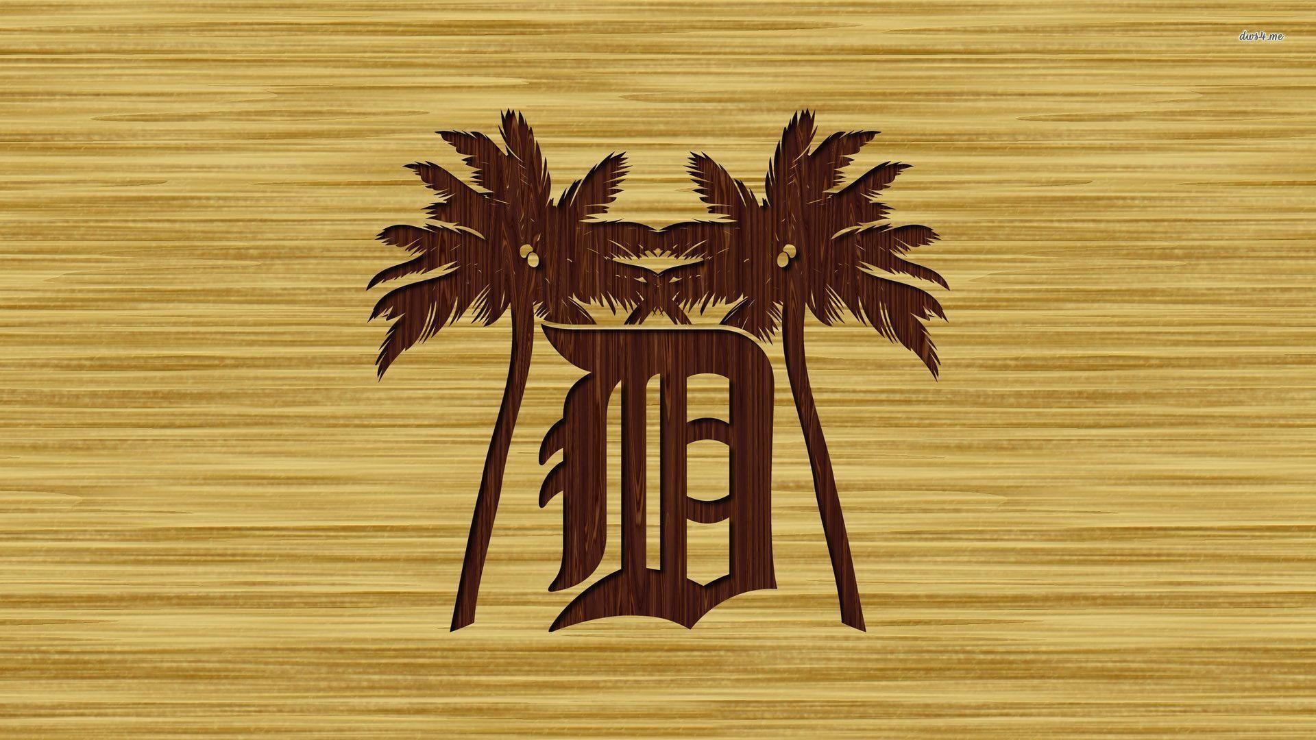 Baseball, Detroit Tigers Logo Palms Art, Detroit Tigers .