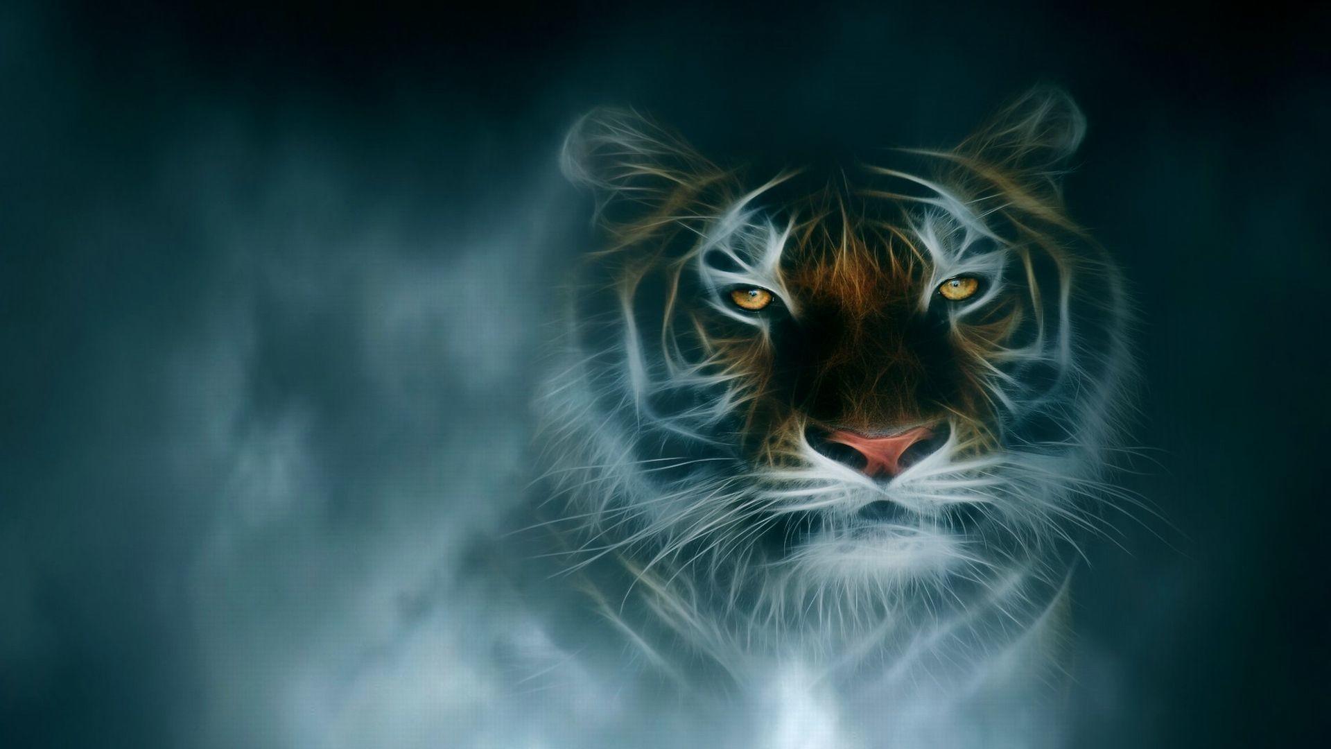 Fractal tiger – and CG Wallpaper ID 1696315 – Desktop Nexus Abstract