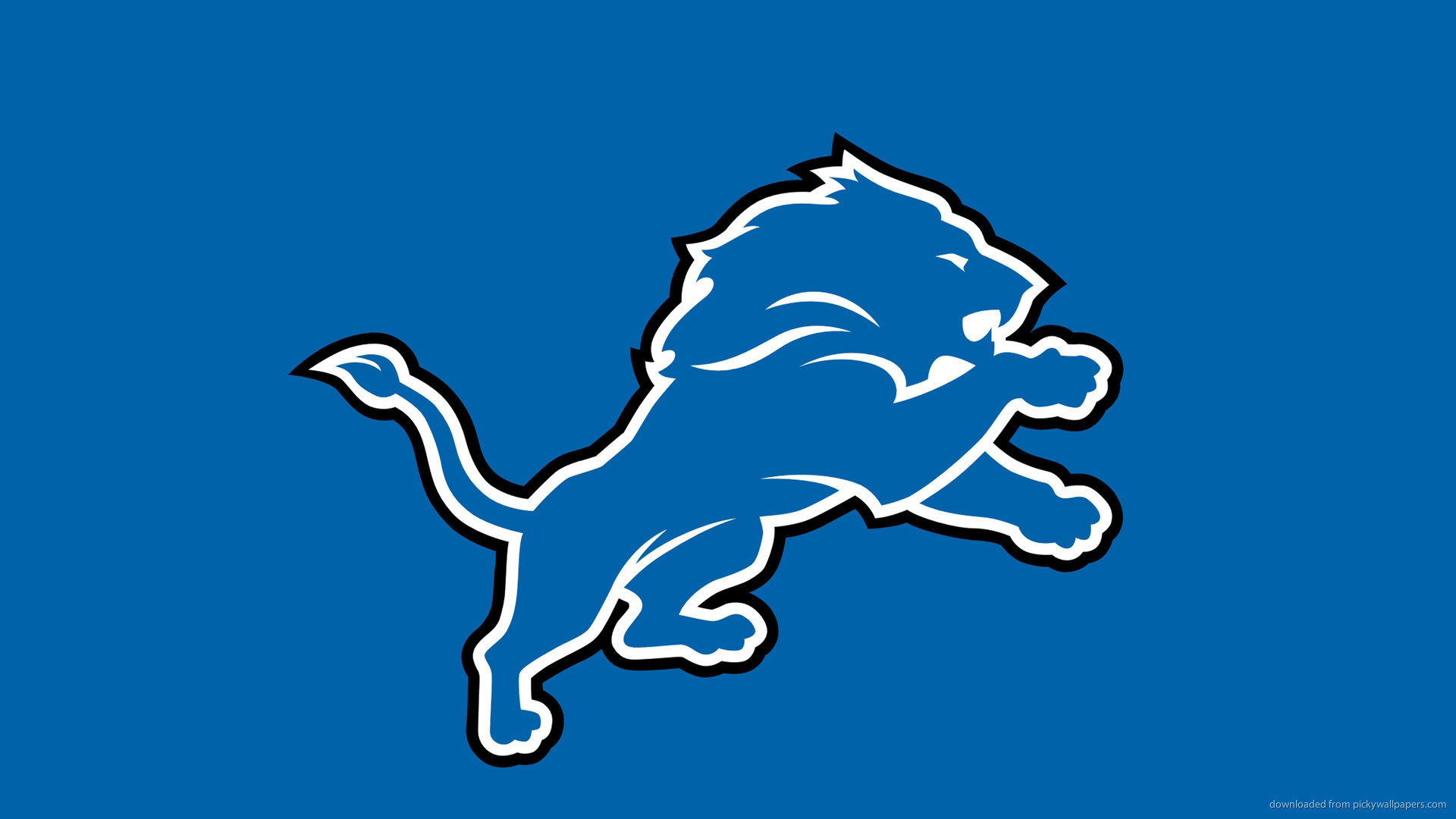 Detroit Lions Logo On A Blue Background Picture For iPhone .