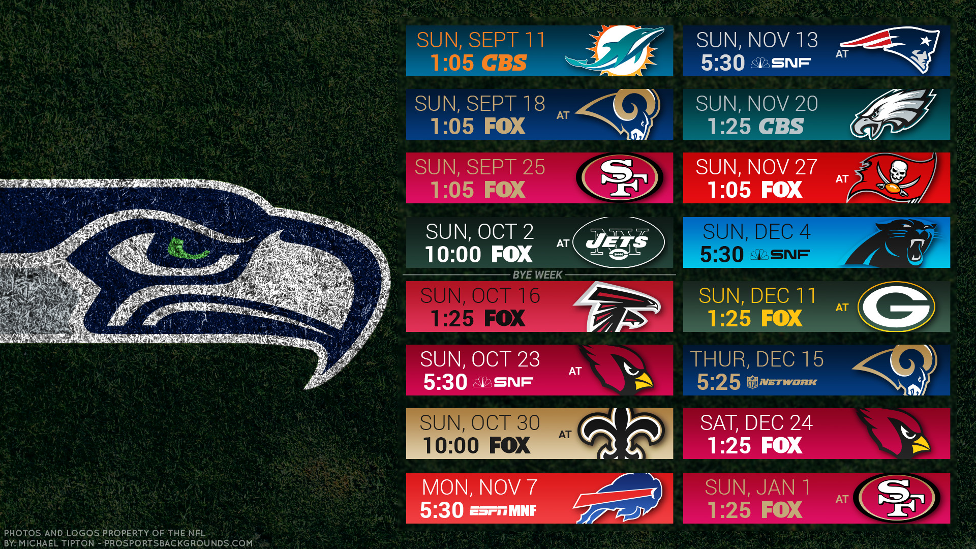 Seahawks 2016 Schedule | Background ID:6217601