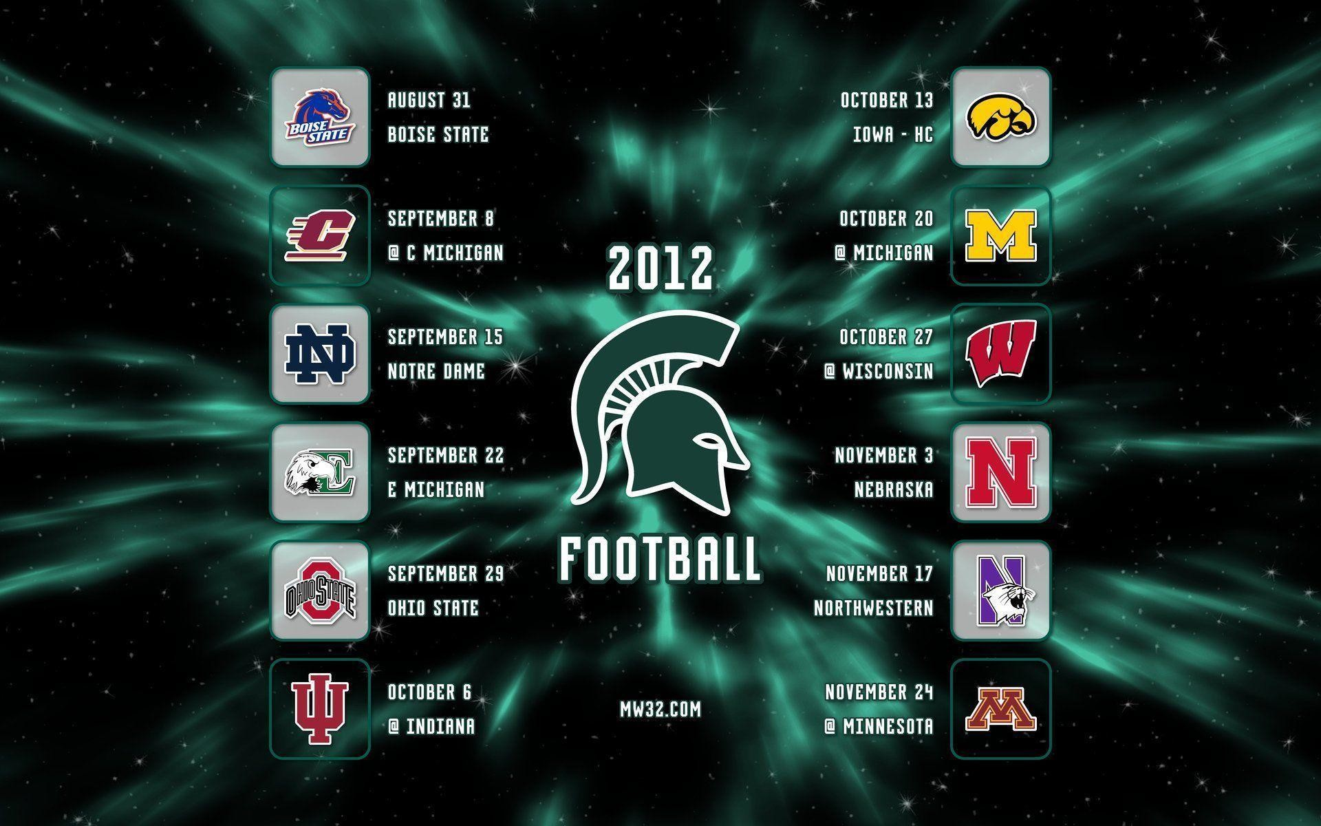 MICHIGAN STATE SPARTANS College Football Wallpaper   .