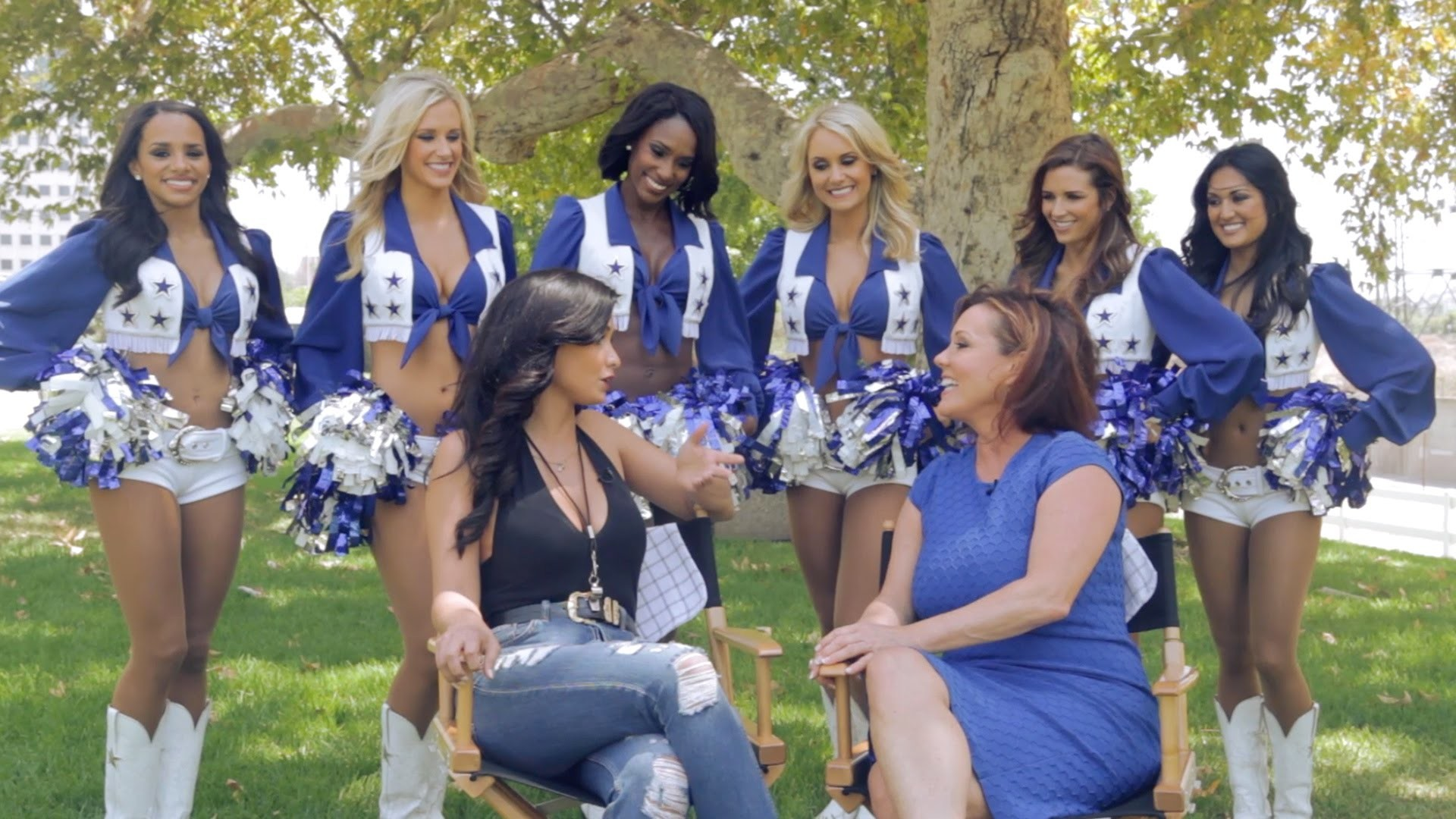 Dallas Cowboys Cheerleaders Talk Catfights & Drama in CMT's 'Making The  Team' – YouTube