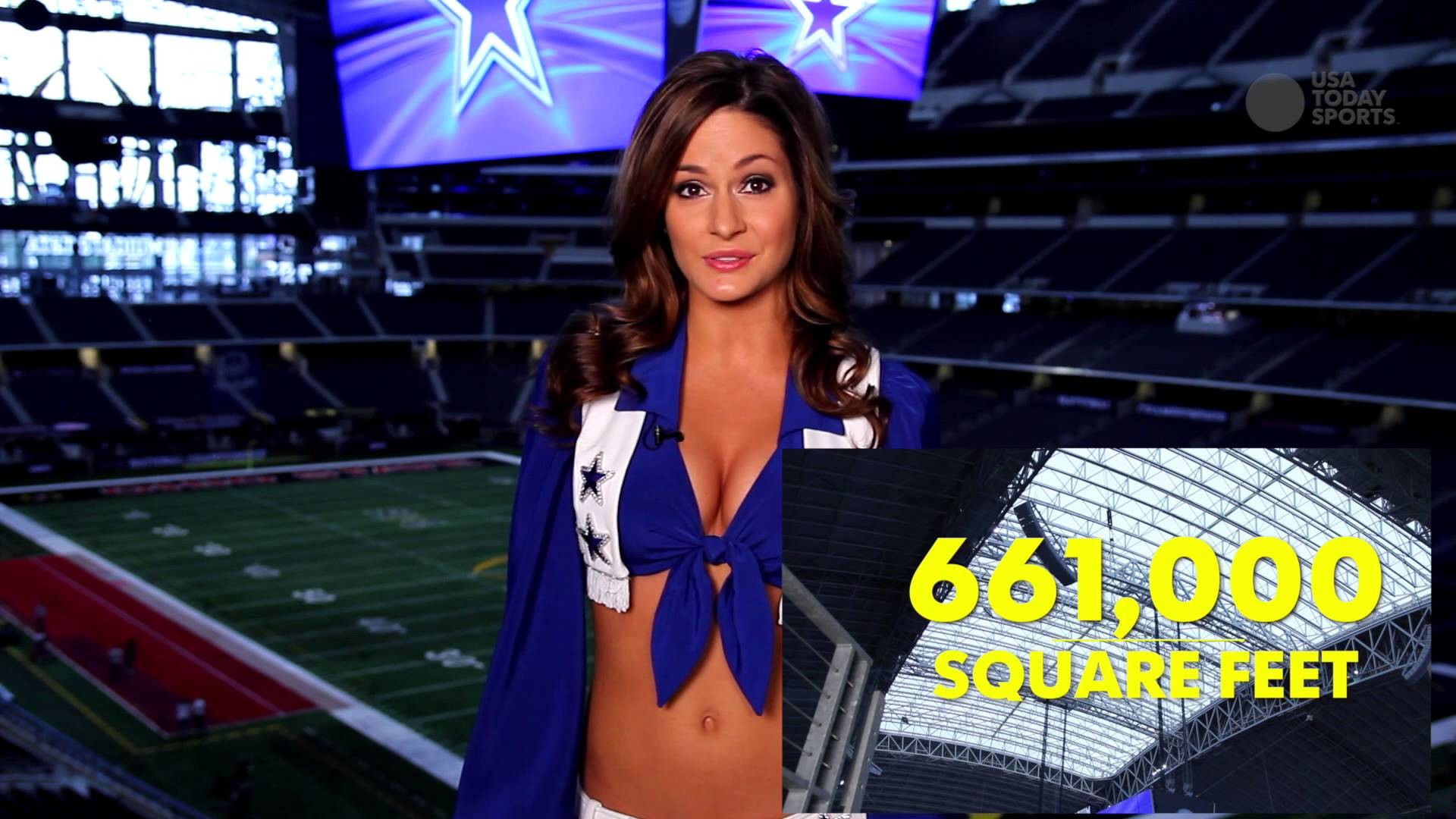 The Dallas Cowboys cheerleaders explain the craziest facts about AT&T  Stadium – YouTube