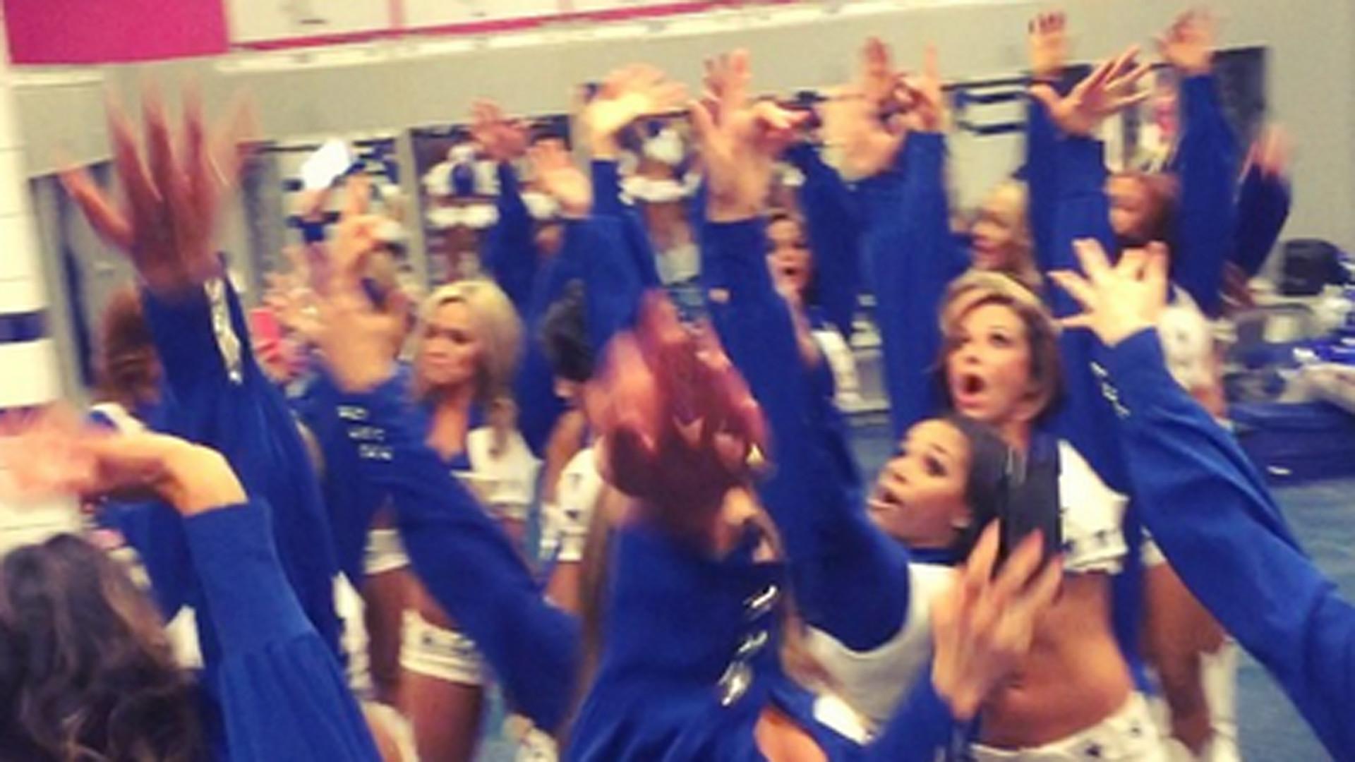 Cowboy cheerleaders hold impromptu locker room dance party after wild-card  win   NFL   Sporting News