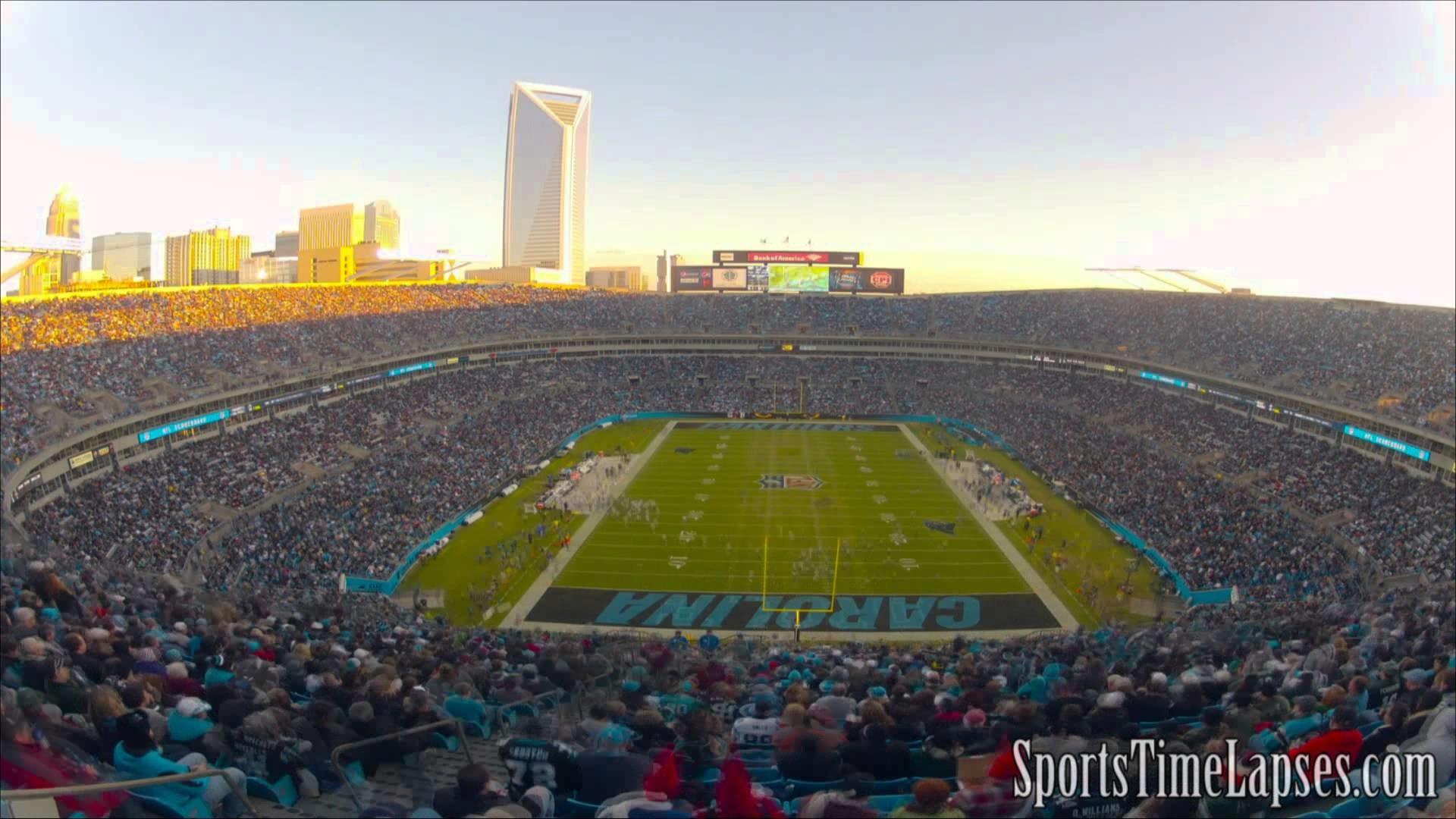 NFL Time Lapse: Bank of America Stadium (Carolina Panthers – End Zone) –  YouTube