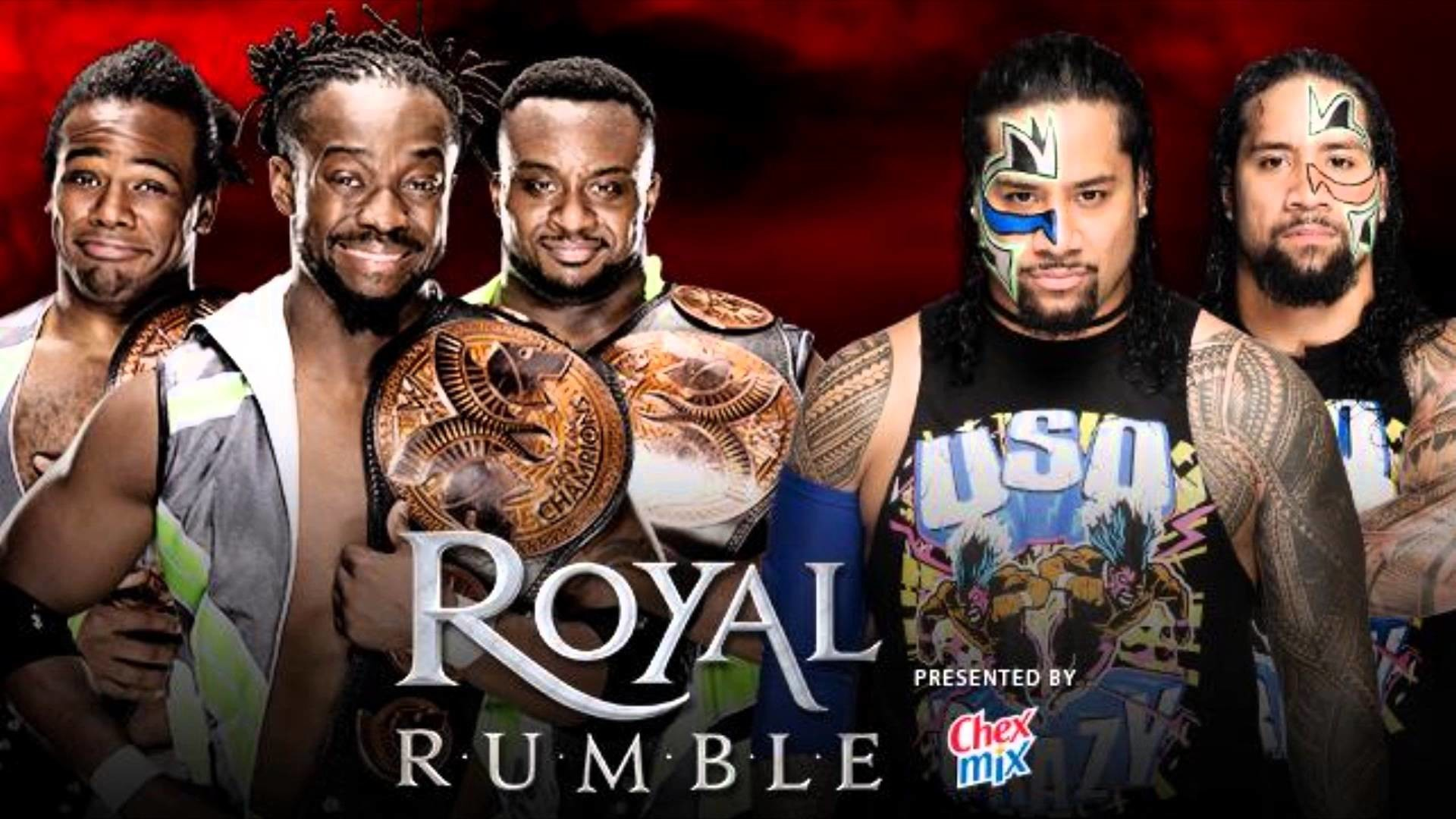 WWE Royal Rumble 2016 The Usos vs The New Day for the Tag team titles