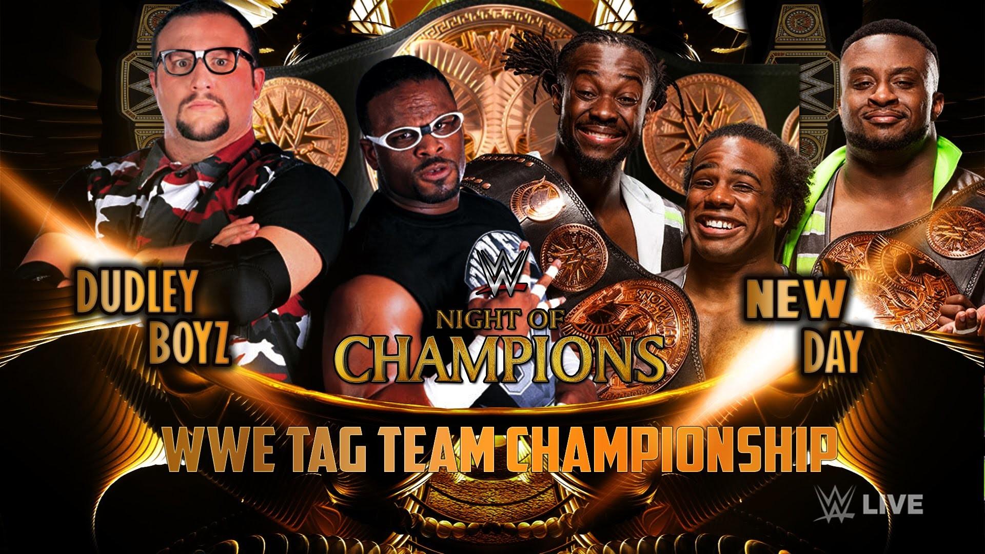 WWE Night Of Champions 2015 – Dudley Boyz Vs New Day (TagTeam Championship)  Match HD
