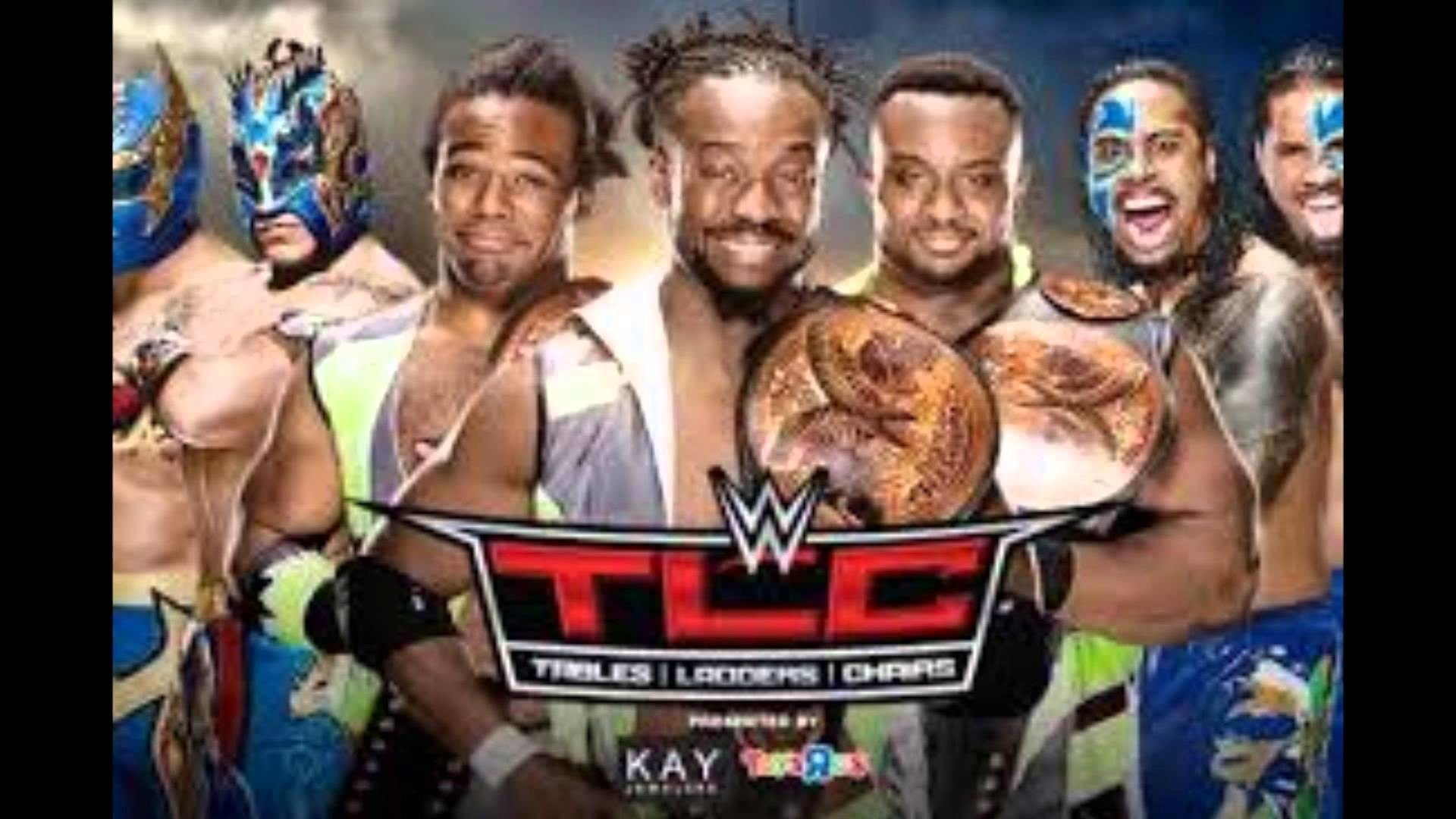 WWE TLC 2015 The Lucha Dragons vs The Uso's vs The New Day for the WWE Tag  Team Championships