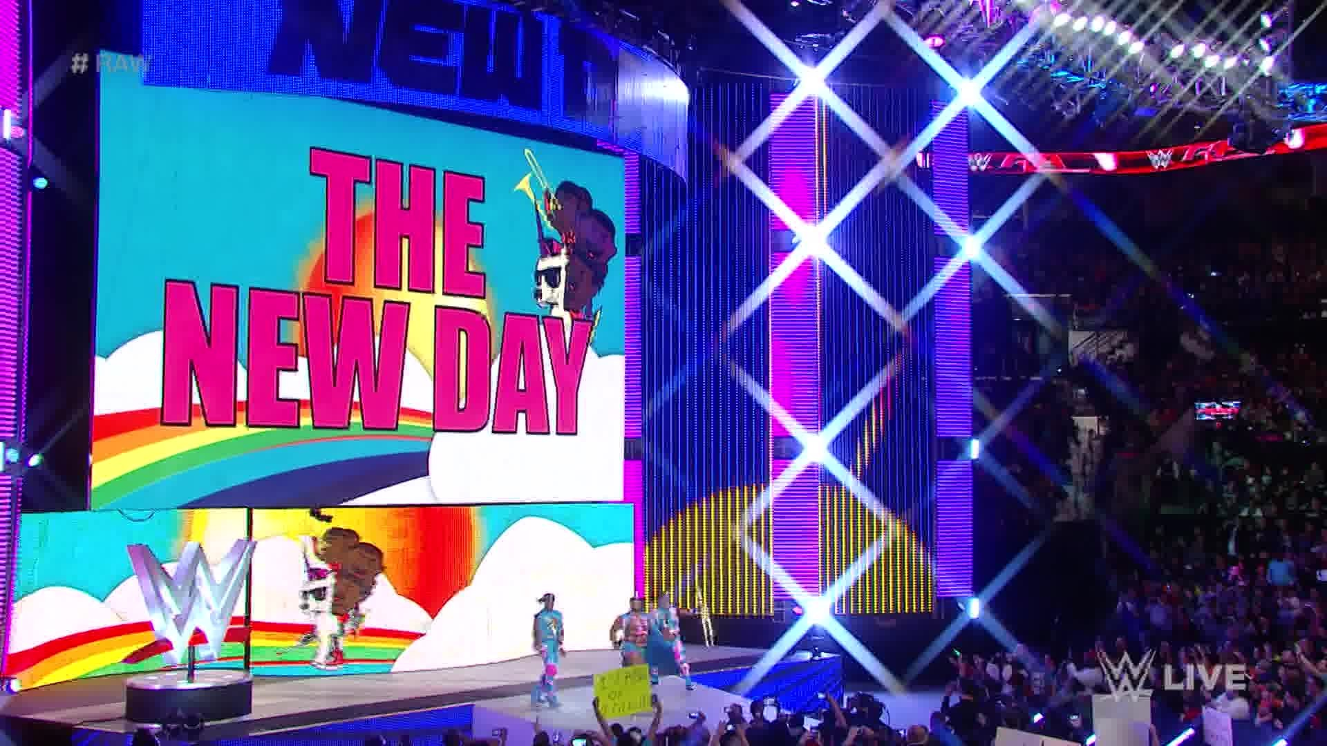 Chris Jericho interrupts The New Day to announce huis participation in the  2016 Royal Rumble Match