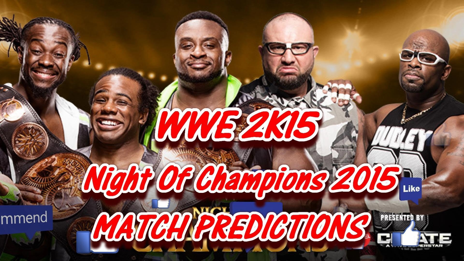 WWE Night Of Champions 2015 (Predictions) TAG TEAM TITLES The New Day vs.  The Dudley Boyz WWE2K15 – YouTube