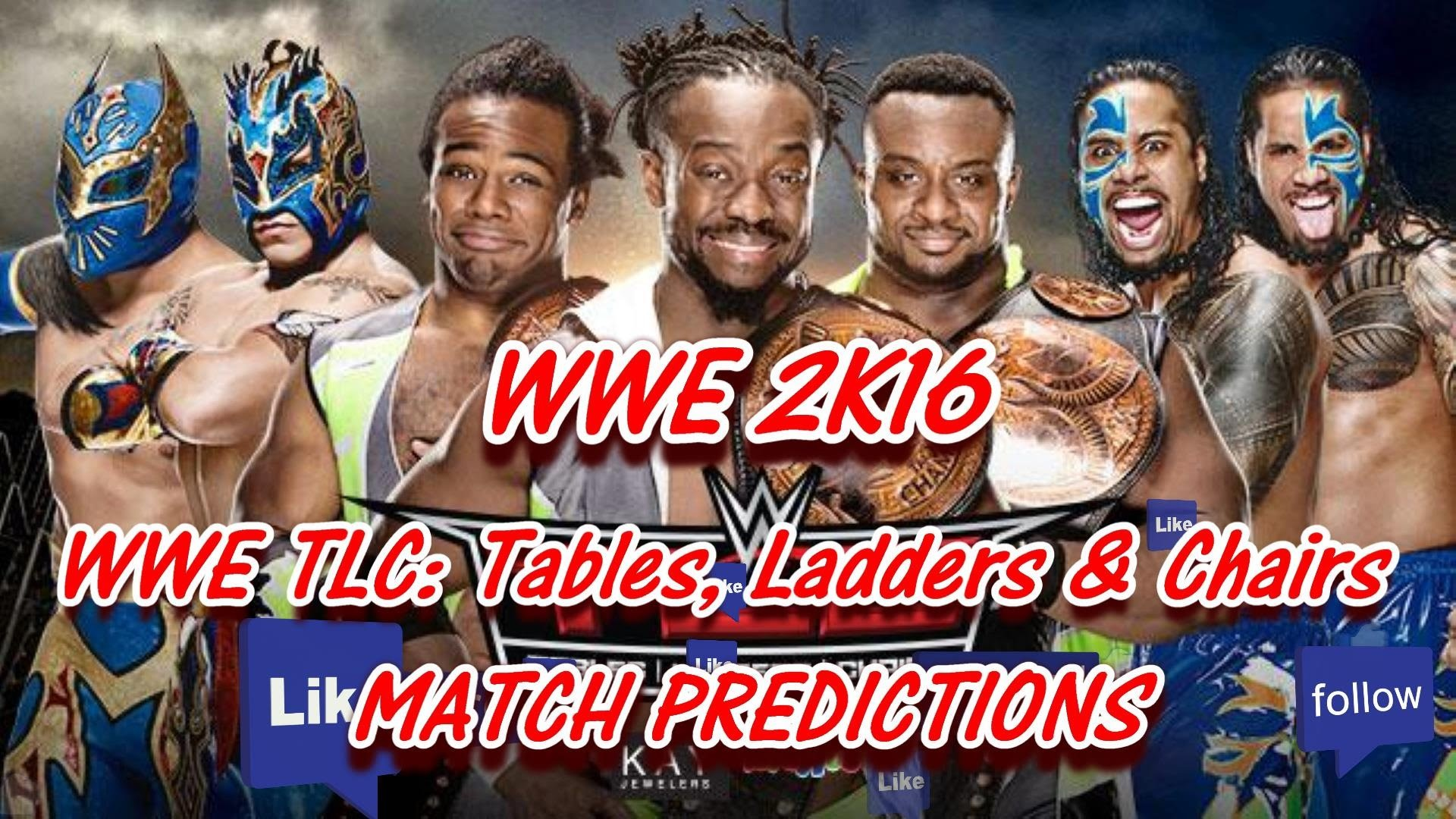 WWE TLC 2015: Tag Team Titles The New Day vs. The Usos vs. The Lucha  Dragons (Predictions) WWE2K16 – YouTube