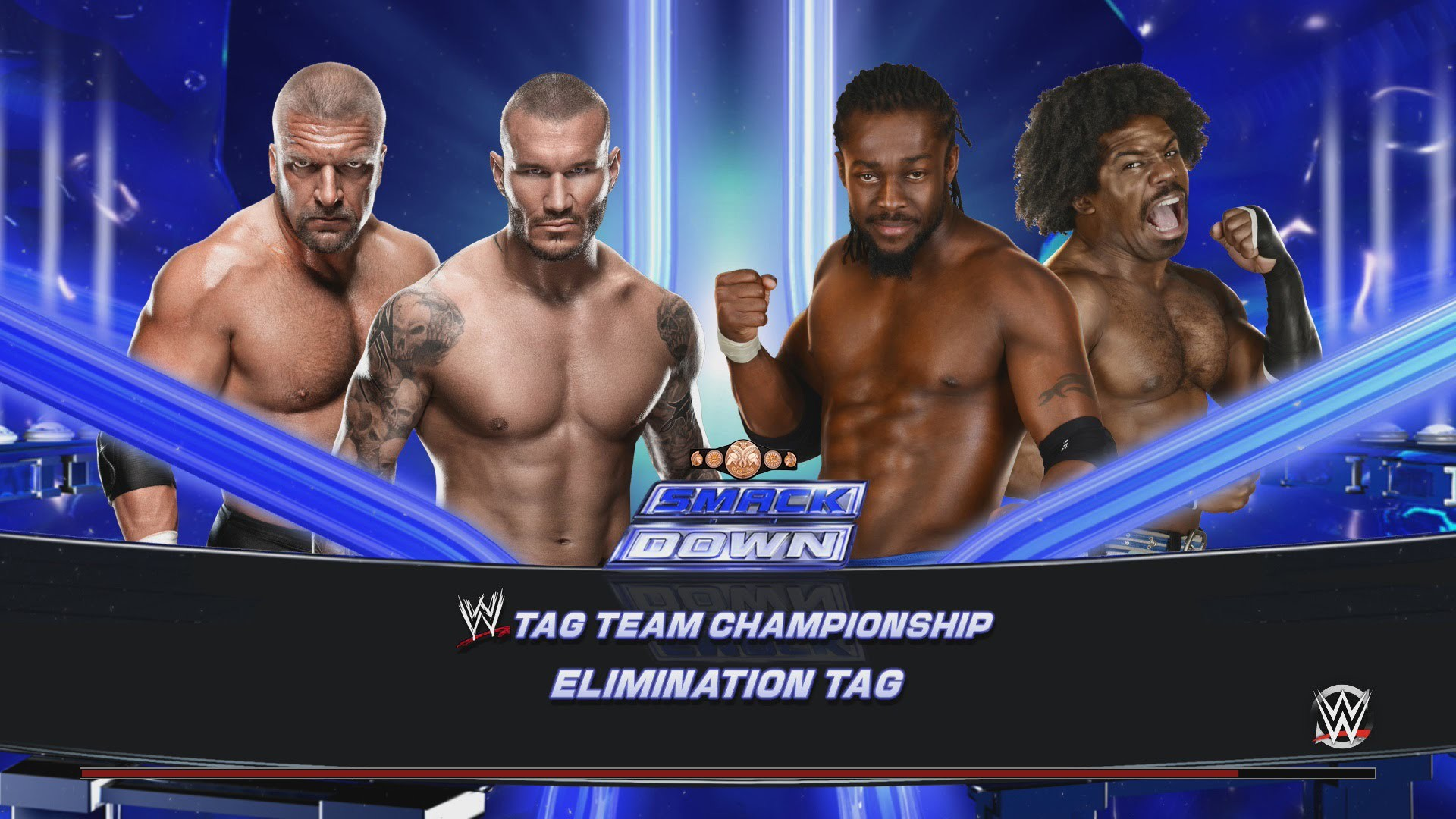 WWE SmackDown A New Day vs. Evolution Tag Team Championship Match