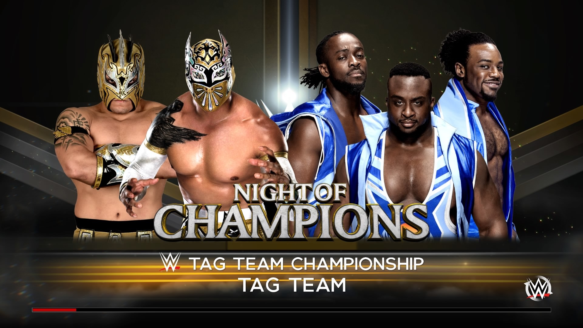 The WWE Tag Team titles were kept for the SmackDown brand and the New Day  had to defend against the #1 contenders, the Lucha Dragons.