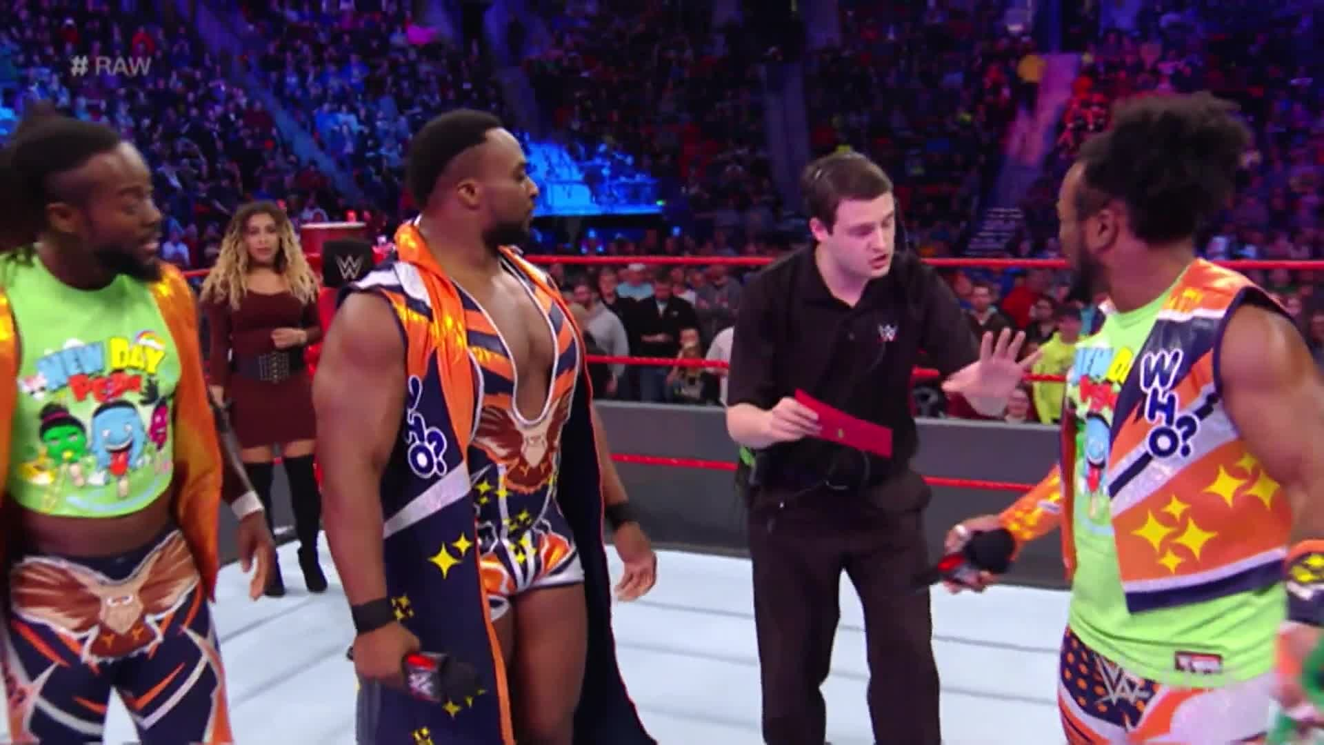 The Shining Stars were wrongly announced as The New Day's opponents on Raw  in scenes similar