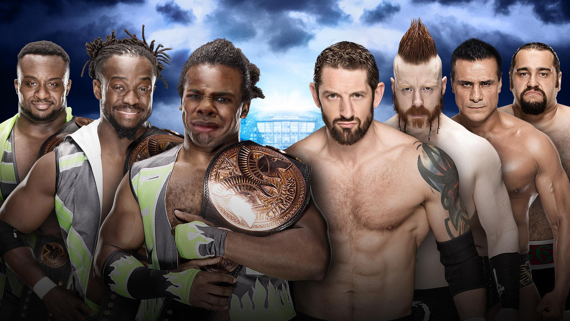I will use every opportunity I can find to put Woods' gross-out face in  pics of the New Day.