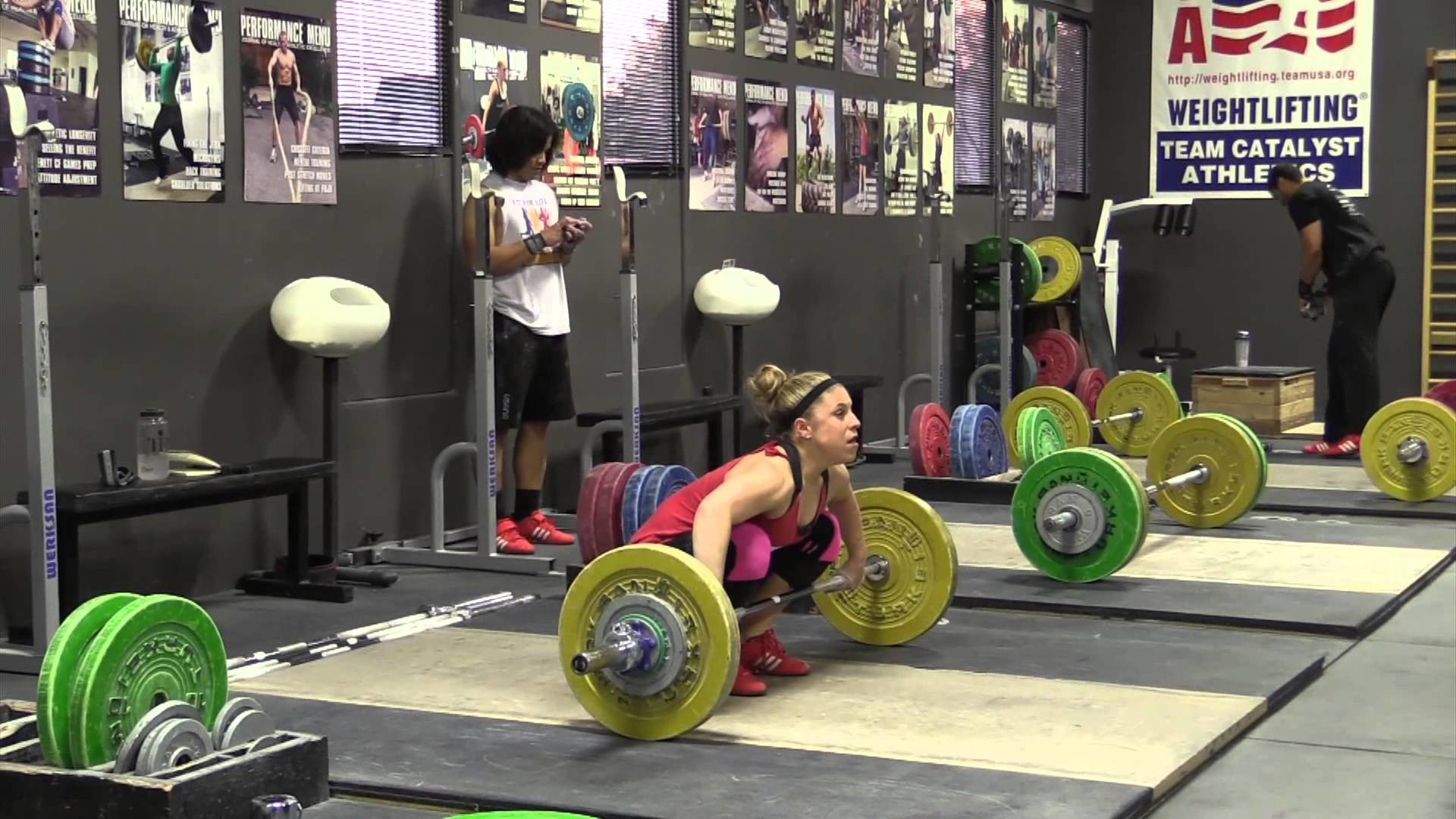 Olympic Weightlifting 2-25-15 – Snatch, Back Squat, Clean, Power Snatch,  Snatch Pull on Riser