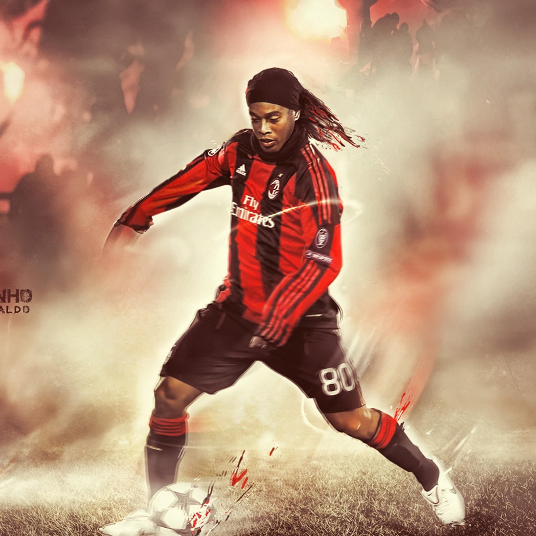 Preview wallpaper ronaldinho, soccer, queretaro 2048×2048