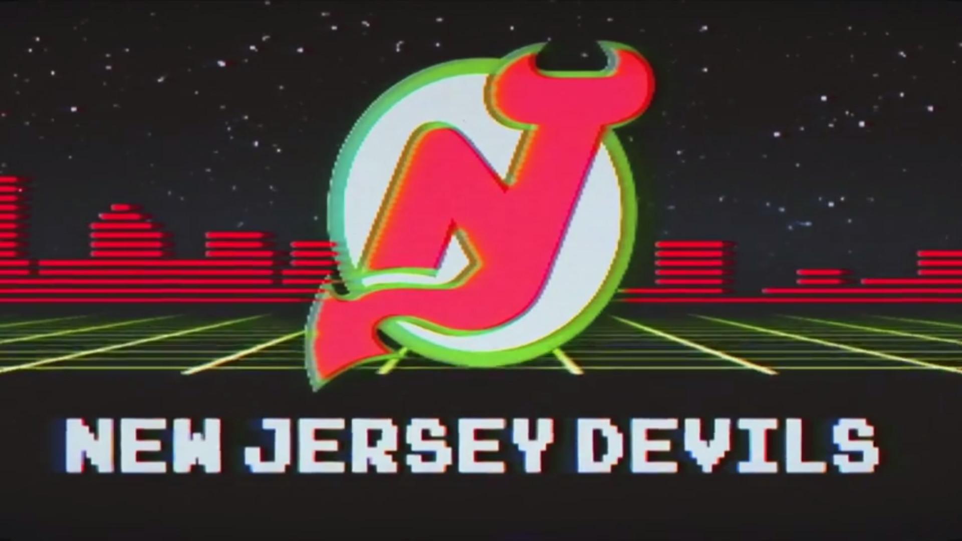 Here's a wallpaper-sized version of the retro Devils logo from the retro  night promo!