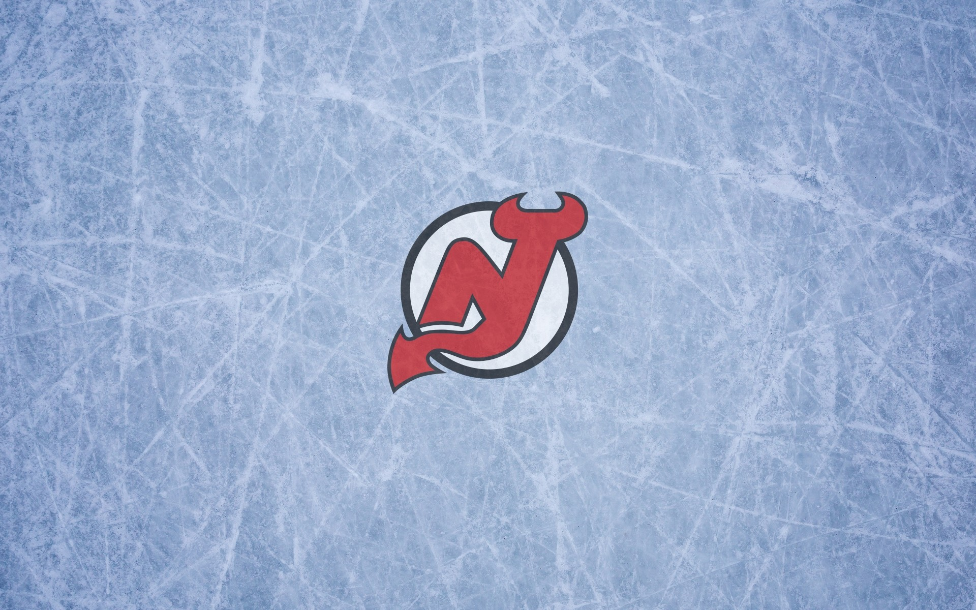 New Jersey Devils wallpaper with logo on the ice, widescreen, 1920×1200,  16×10