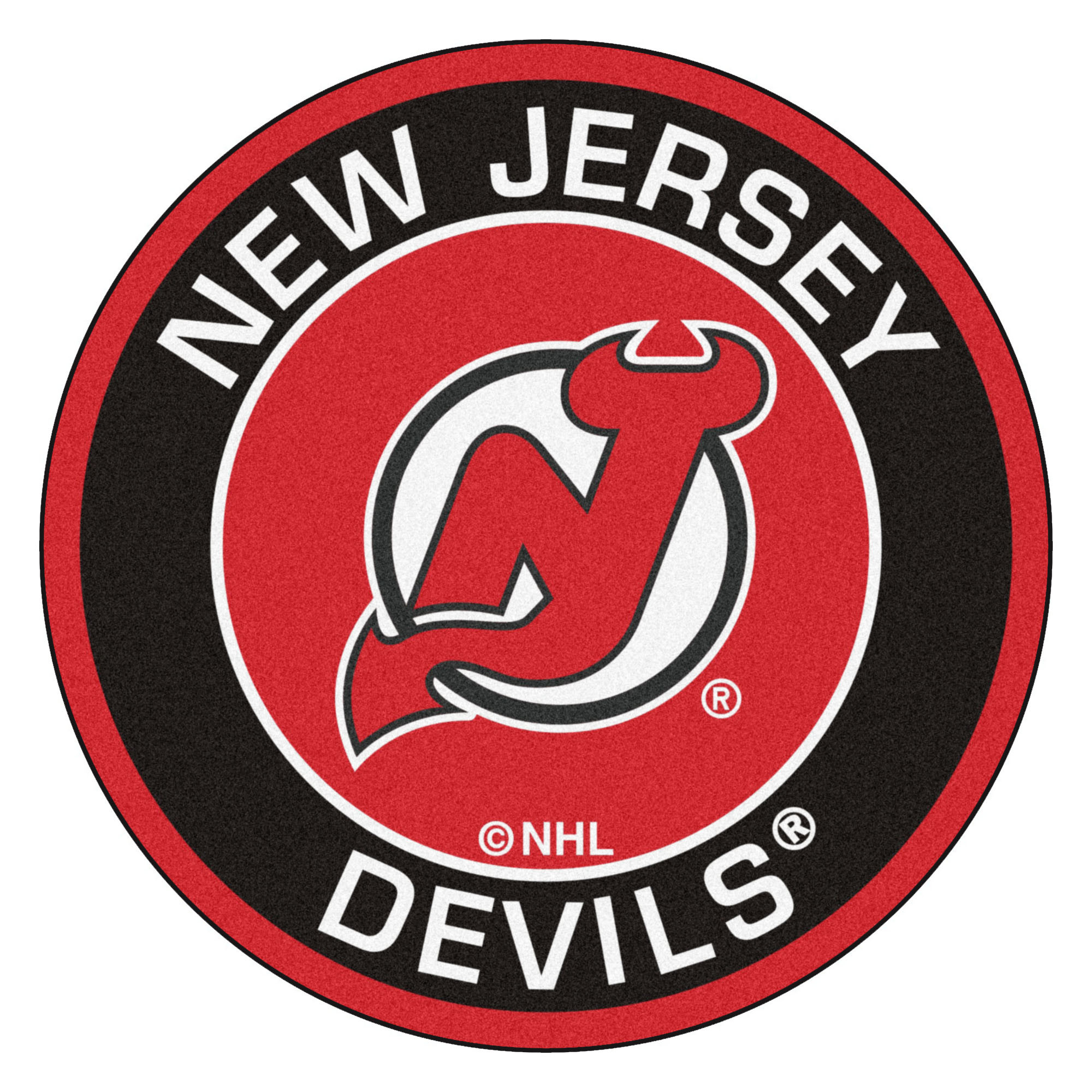 "New Jersey Devils Logo Roundel Mat – 27"""