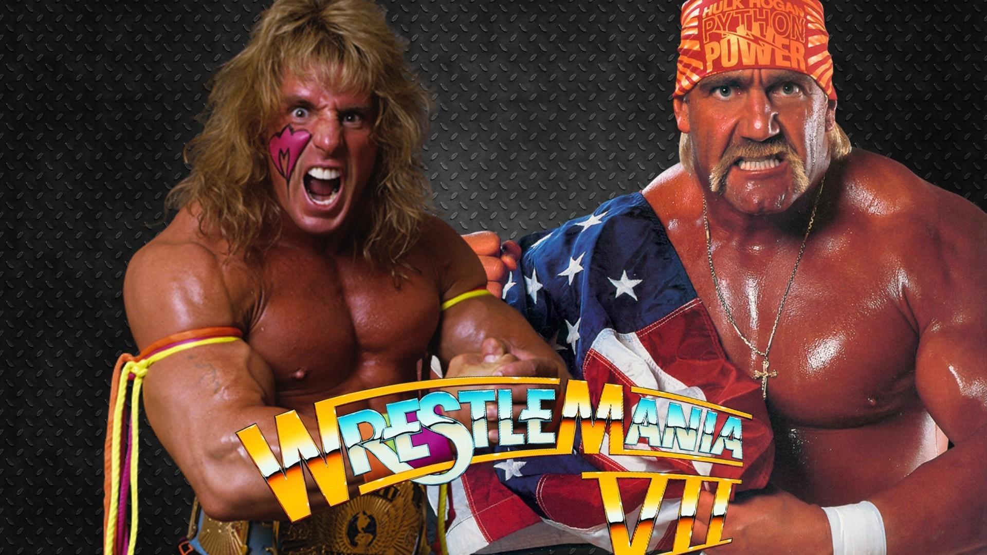 The Ultimate Warrior & Hulk Hogan WrestleMania 7 HD Wallpaper