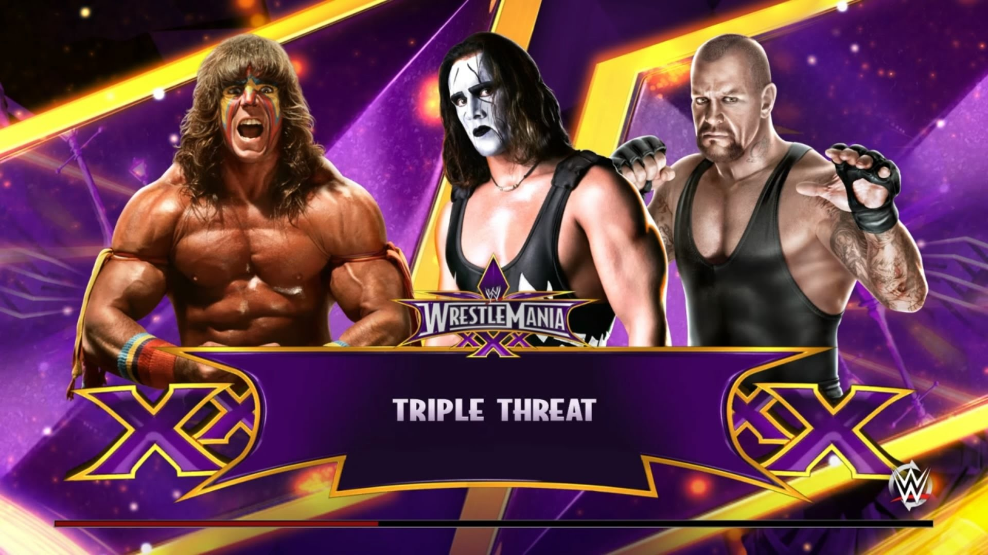 Sting vs Ultimate Warrior vs Undertaker Wrestlemania Triple Threat! – WWE  2K15 – YouTube